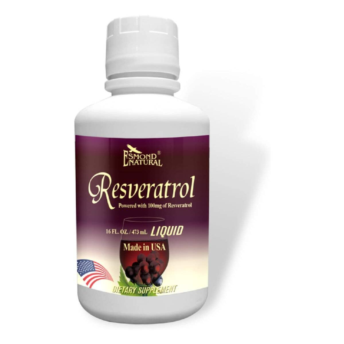 (3 Count, 10% Off) Esmond Natural: Resveratrol (Red Grape & Pomegranate), GMP, Natural Product Assn Certified, Made in USA-473ml, 48 Fl Oz
