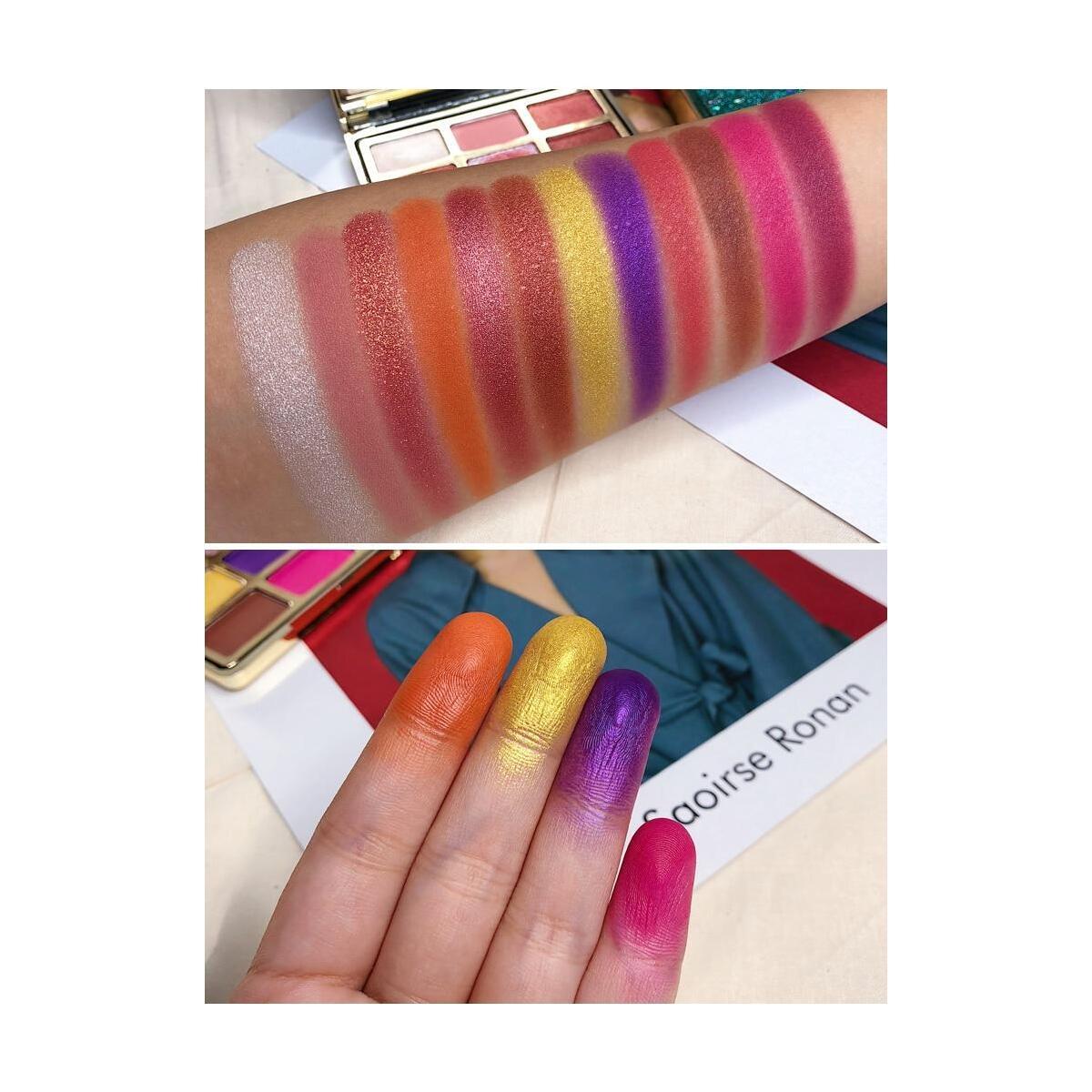 RomanticBird Febble Eyeshadow Diamond Glitter Metallic 12 Color Eyeshadow Palette, 03 / China
