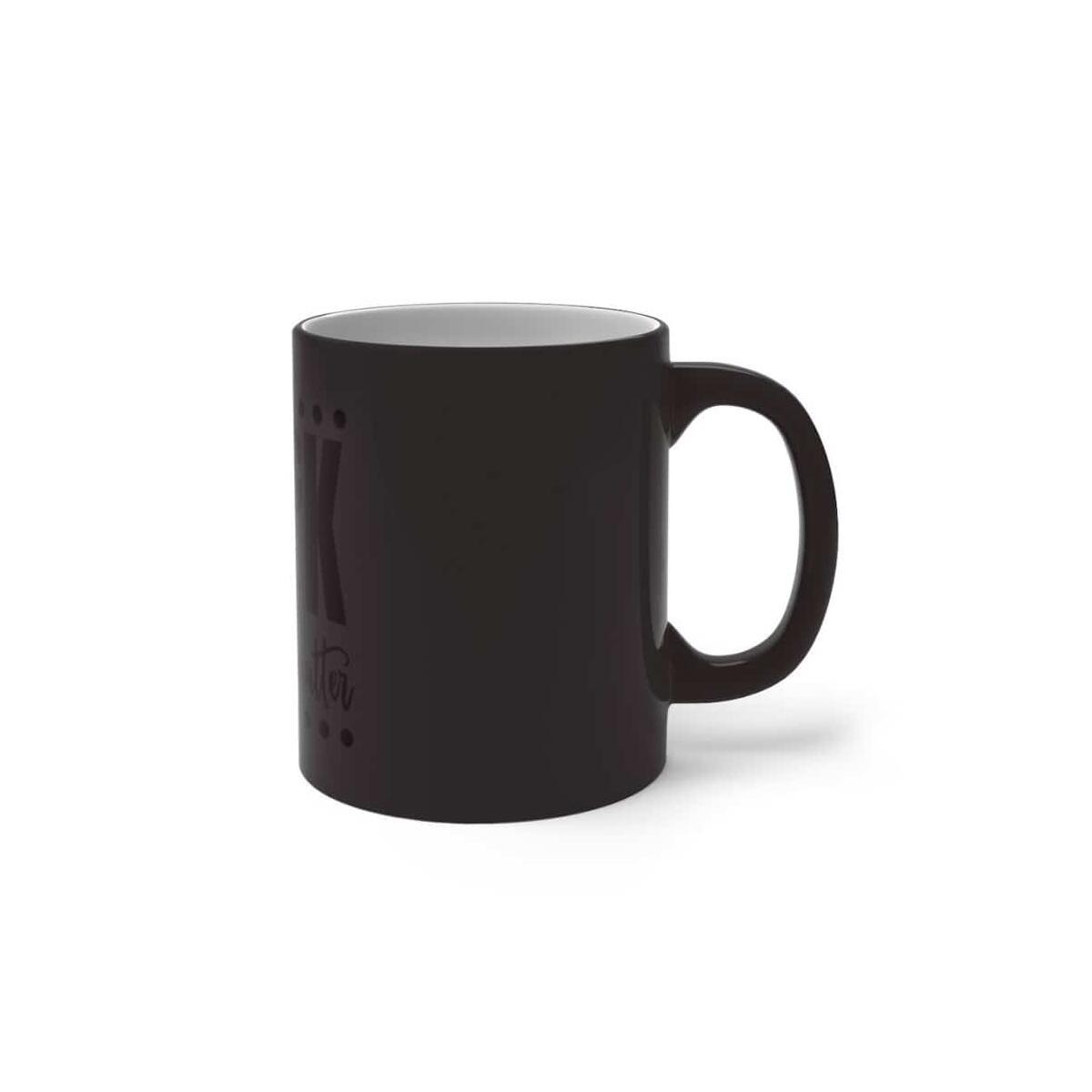 Afrocentric BlacK Fist Wordart Color Changing Mug