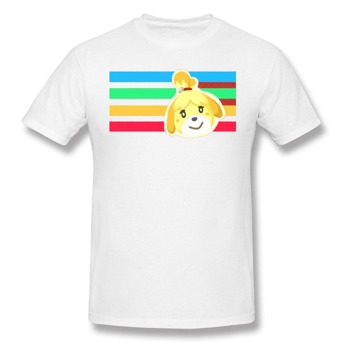 Animal Crossing Rainbow Isabelle 100% Cotton Shirt, White / XXXL