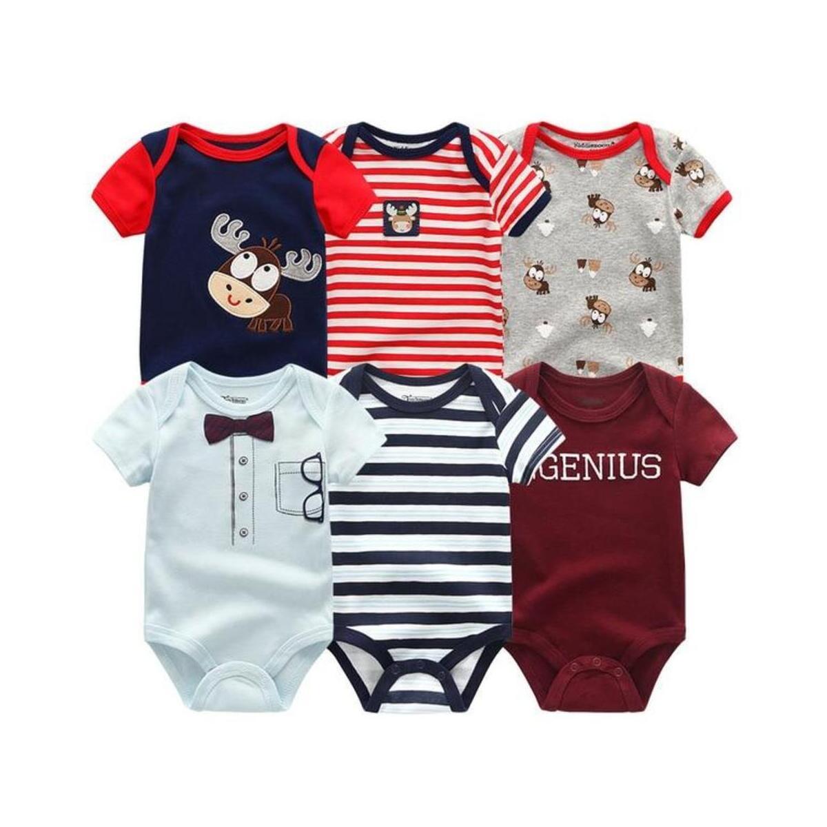 Newborn Short Sleeve Boys Girls Bodysuit Rompers