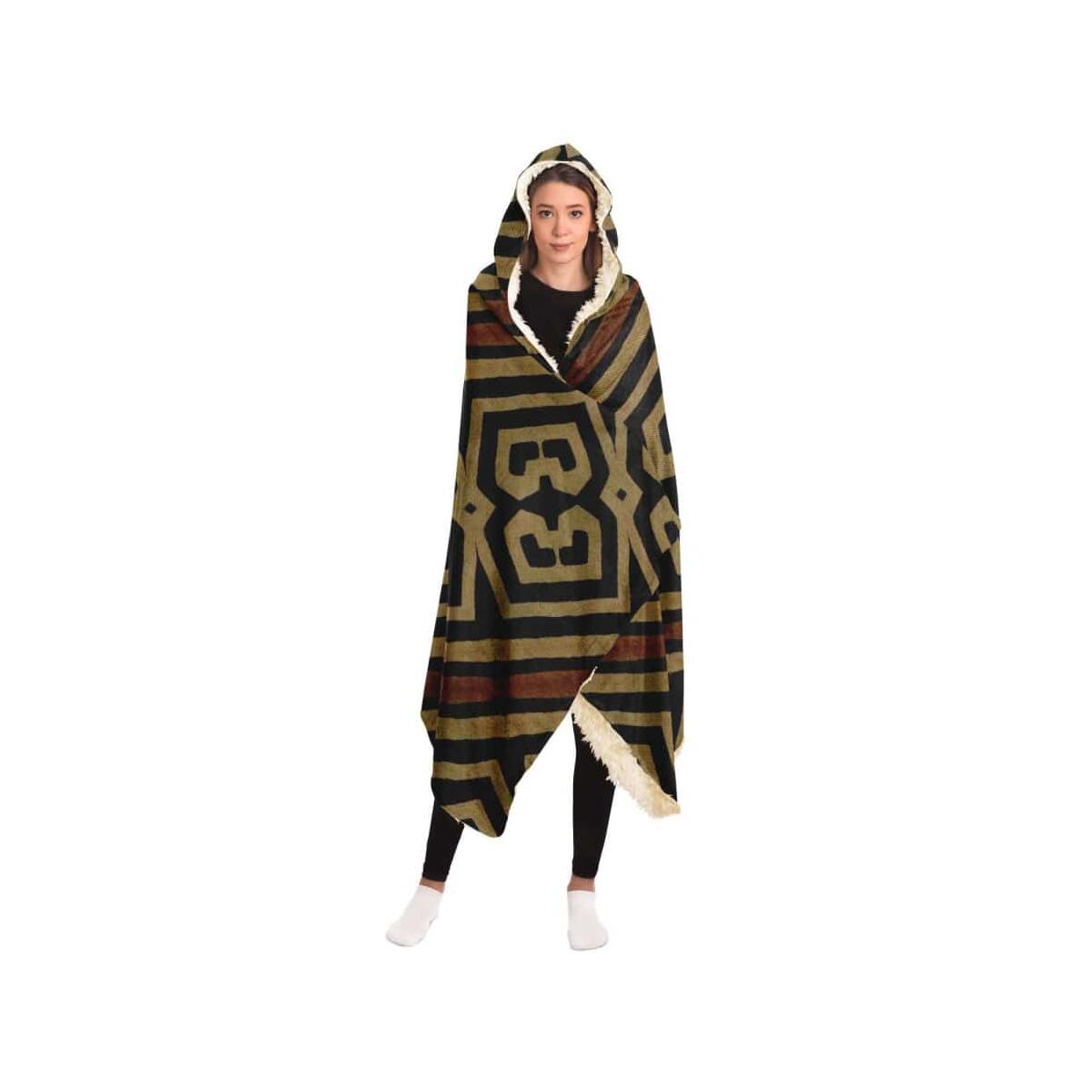 Bogolanfini Hooded Blanket