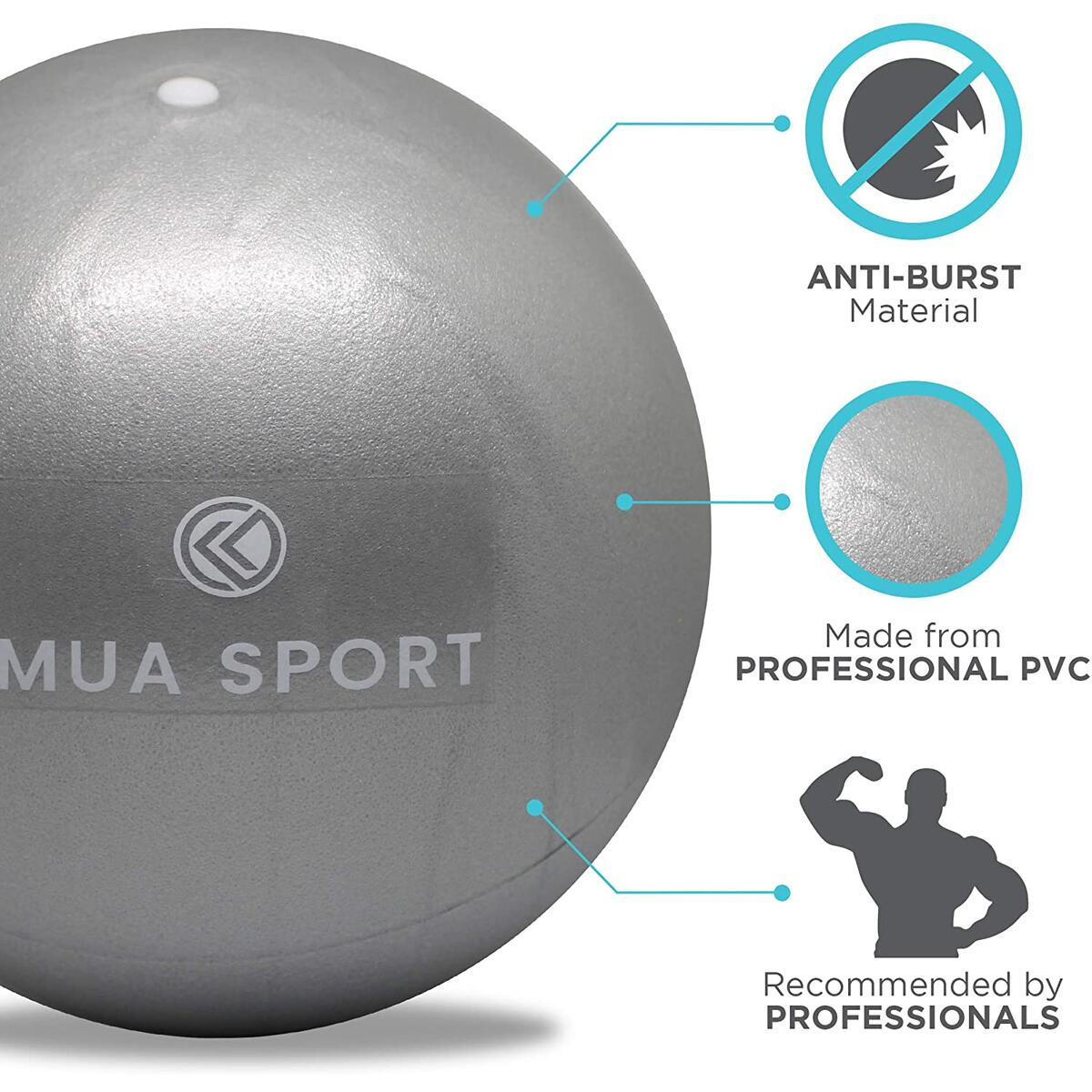 Barre Ball by Imua Sport - 9-inch Small Exercise Ball for Barre, Yoga, Pilates and More - Workout Guide Included