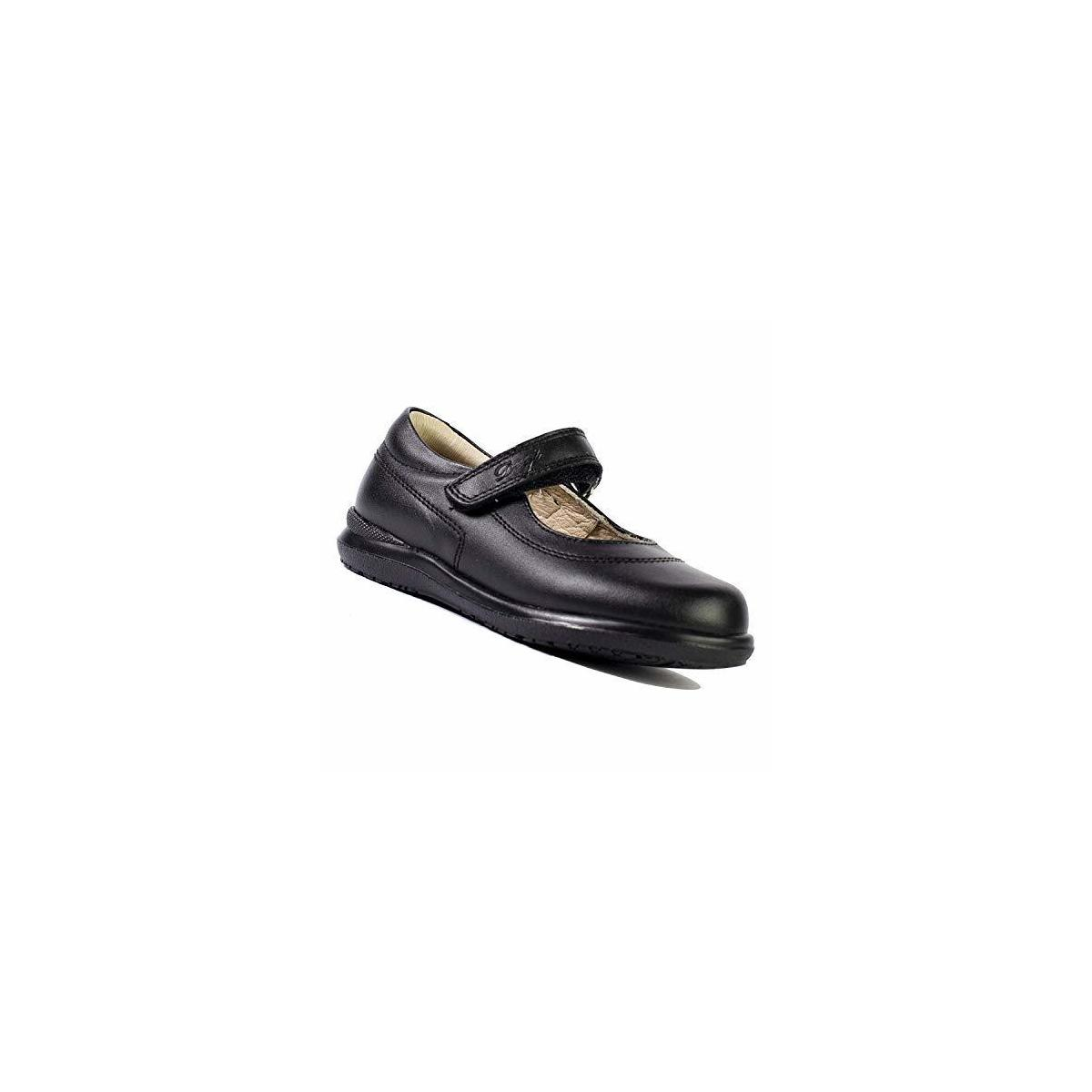 DOGI Mary Jane Round Toe Shoes - Leather Girl's Velcro Strap School Uniform Dress Shoe with Shock Absorbant Insole and Best Arch Support - Mimi