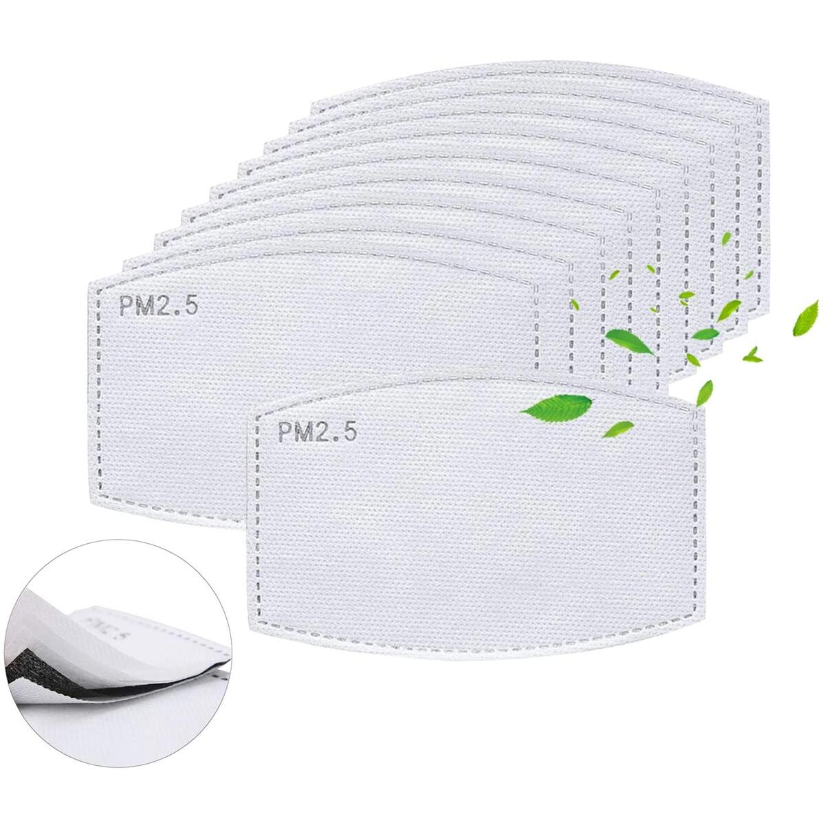 PM 2.5 Activated Carbon Filter Insert 5 Layers Protective Replacements Anti Haze Filter Paper (10PCS)