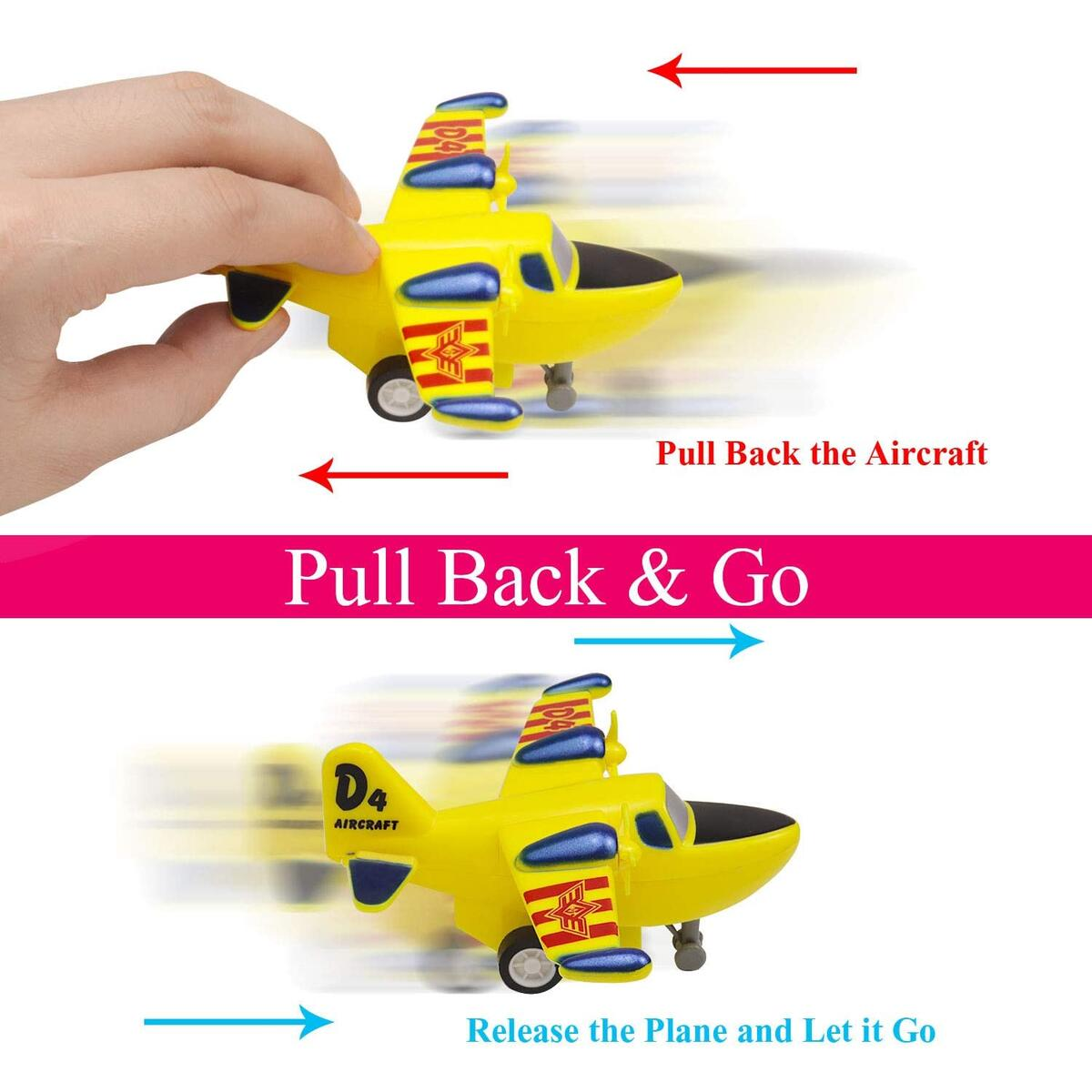 12 Pcs Pull Back Airplanes Playset, Plane Toys Variety Style , Helicopters, Stealth Bombers, Fighter Jets, Aircraft, Great as Gift for Children Boys Girls 2 3 4 5 6 7 8 years old, Party Favors