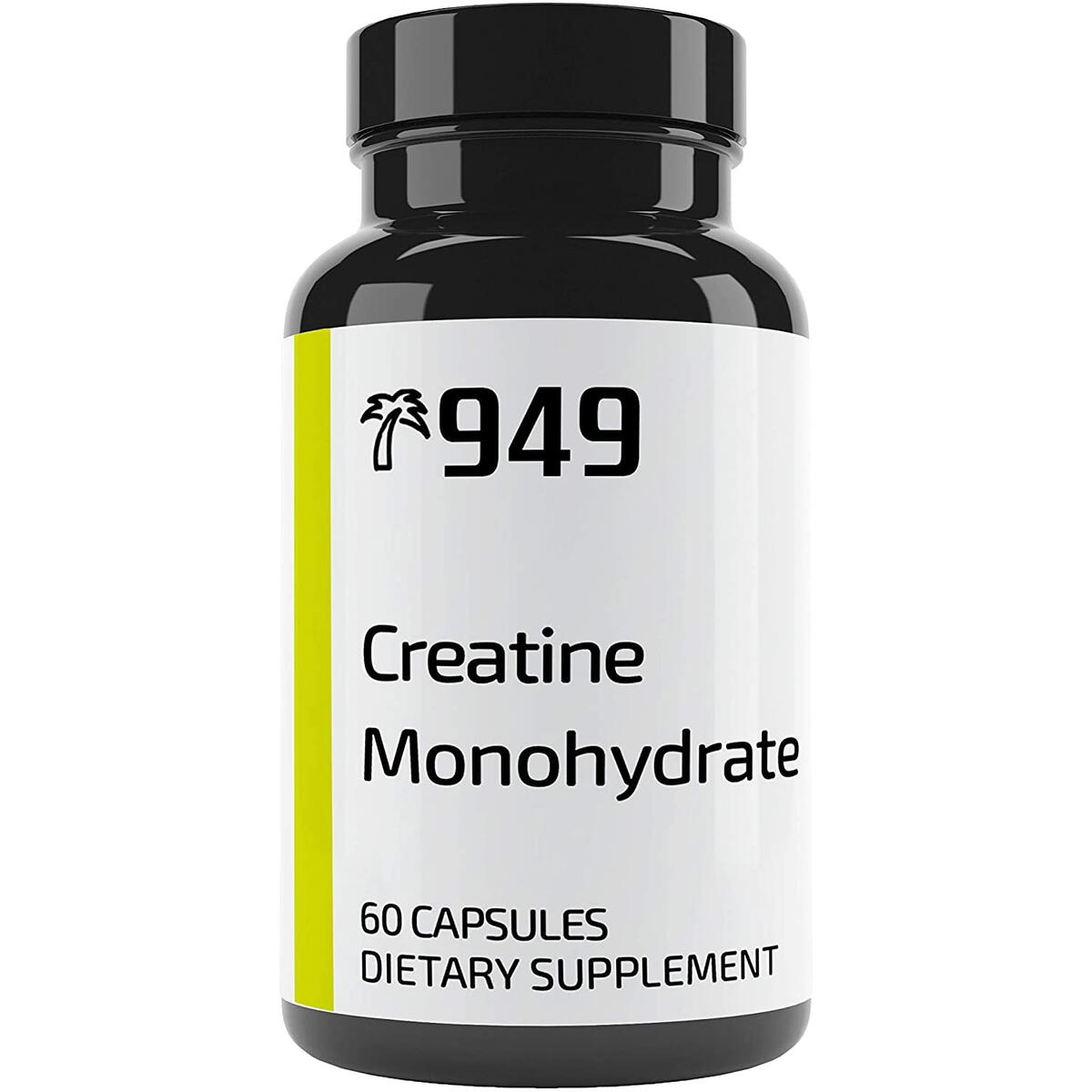 Creatine Monohydrate, Under 10 Dollars, 60 Capsules, Post-Workout Recovery, Muscle Building, Made in USA, No Additives or Fillers, Lab-Tested, Satisfaction Guaranteed, 949*