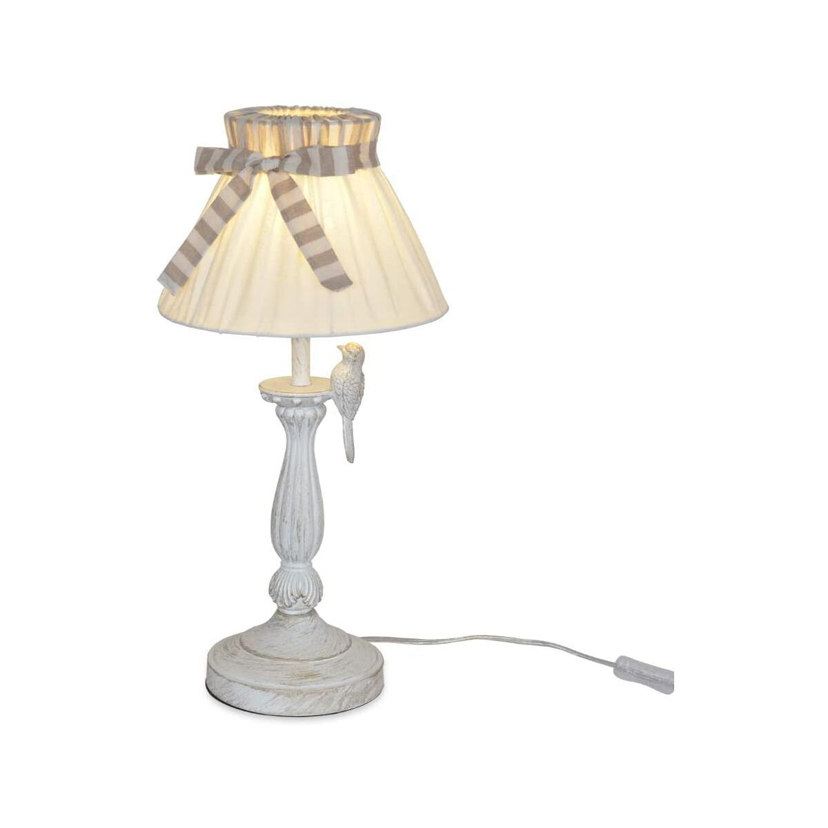 Karmiqi Beside Table Lamps for Bedrooms, Nightstand Light,Bulb Included, Mid Century Farmhouse Side lamp,Fabric Bell Shade for Living Rooms