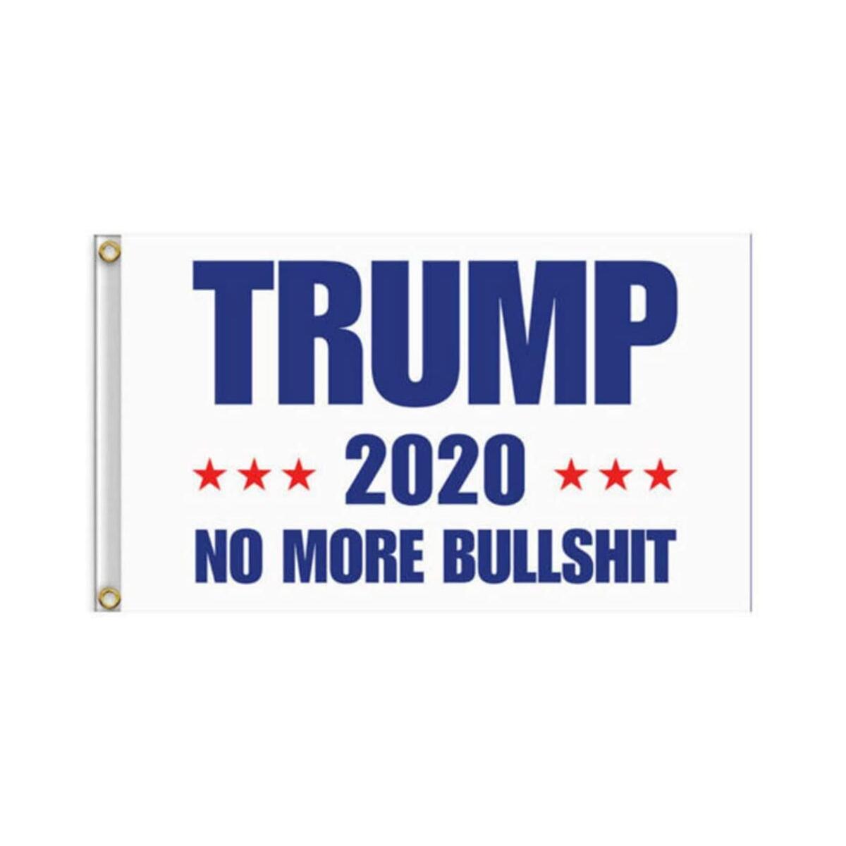Vogshine Donald Trump Flag - 2020 Trump President Flags No More Bullshit Keep America Great Flag 3x5 ft (White)