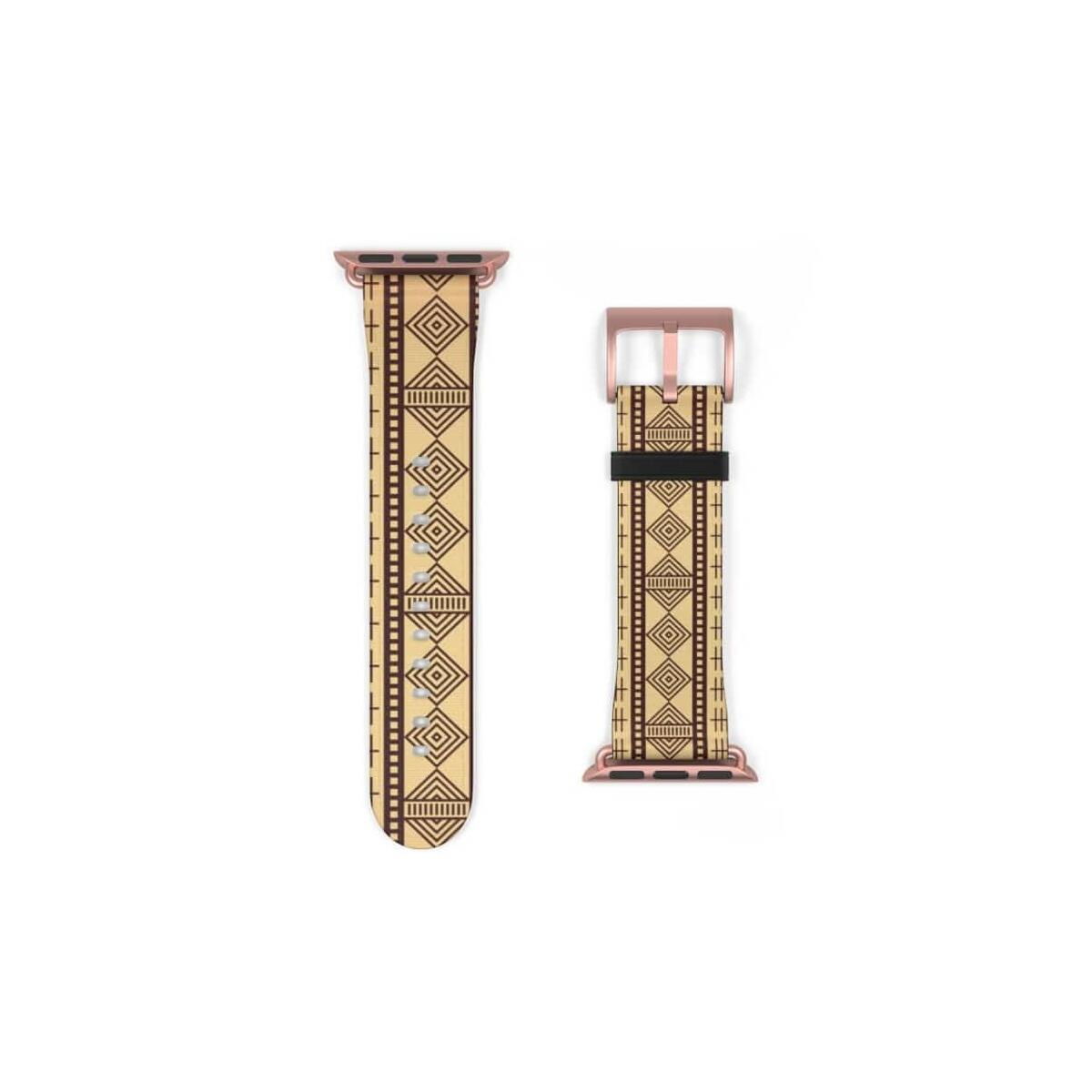 Brown Afrocentric Watch Band
