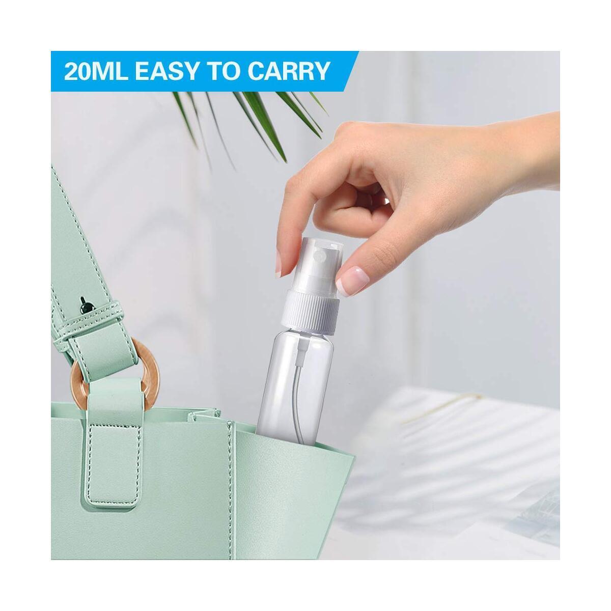 Hair Mist Spray Bottle, YIWGOOD 32oz Plastic Refillable Empty Trigger Sprayer for Hair Salons, Cleaning, Pets, Plants or Air Freshener & 2 Pack 20ml Small Spray Bottles for Hand Sanitizer