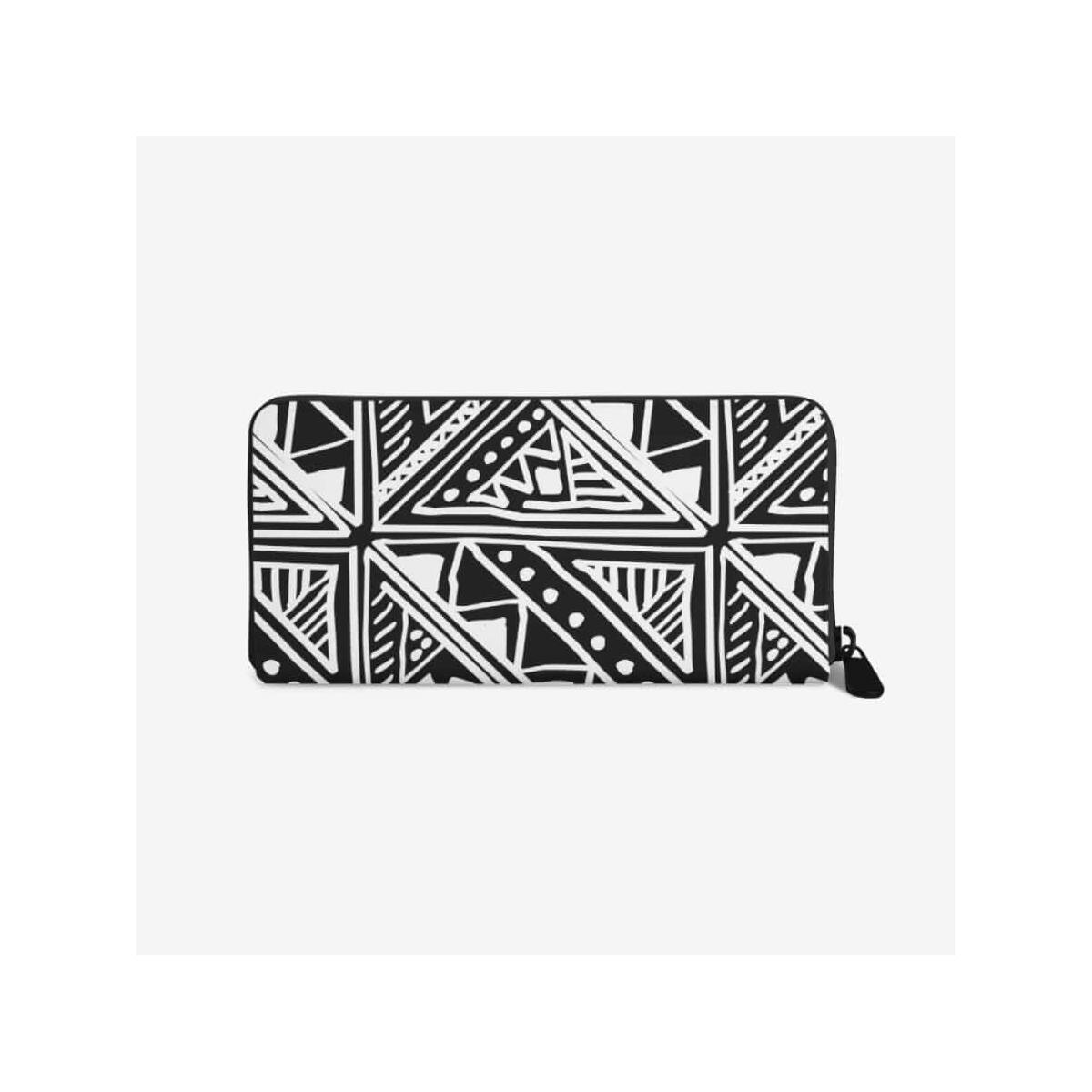 Women's White African Mud cloth Leather Wallet, White