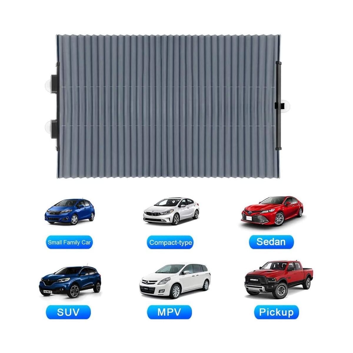 Car Windshield Shades for Front Window,Retractable Automotive Sunshades Car Heat Sun UV Protector Cover for Keep Your Vehicle Cool,Fits Various Car Windshields Sizes