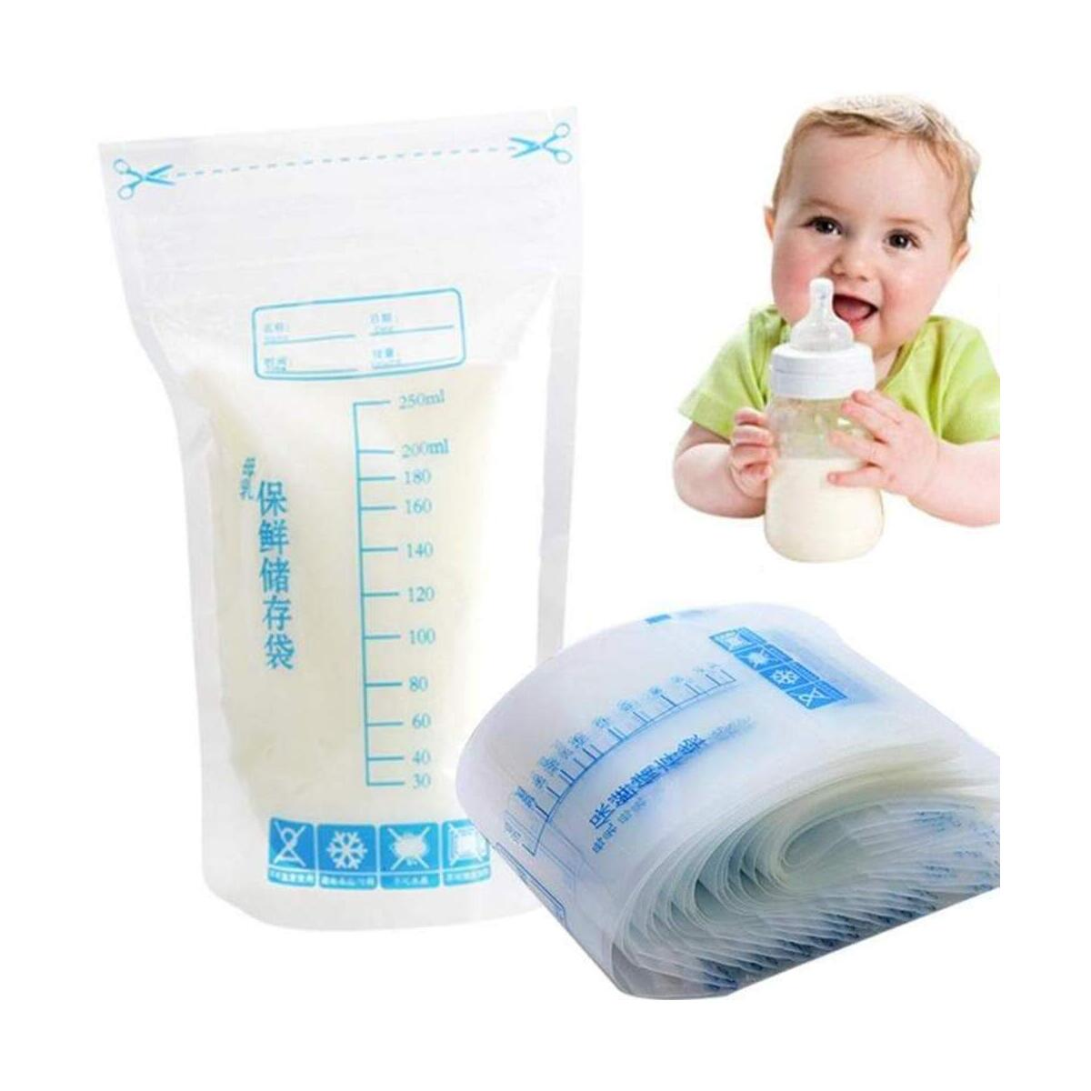 Breastmilk Storage Baby Bags Breastfeeding Mother Freezer Storage Container Bags for Breast Milk Comes Pre Sterilized Accurate Measurements Leak Proof