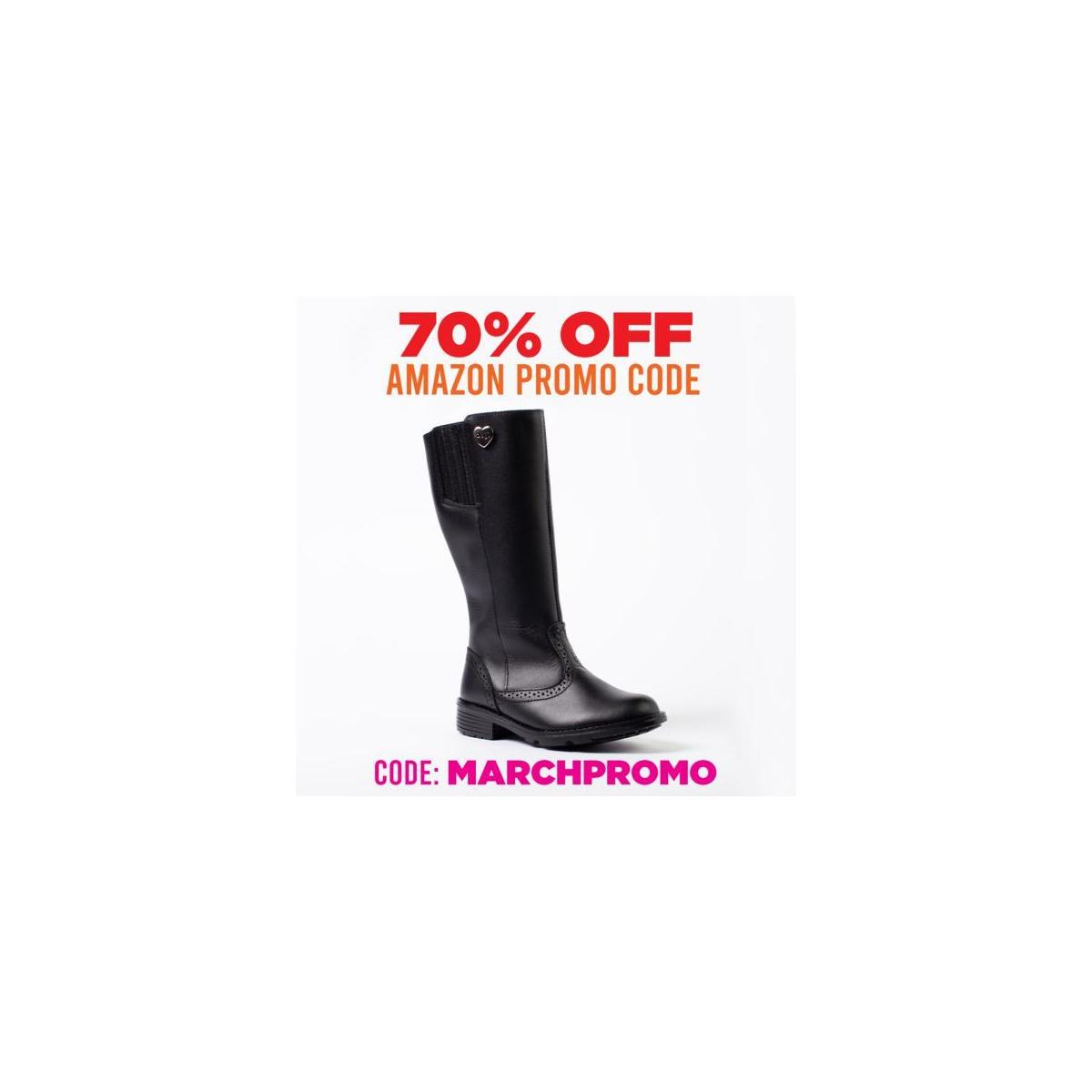 DOGI Little Girl's Knee High Riding Boots - Full Grain Premium Leather Boot with Perforated Details, Elastic Calf Adjustment and Metallic Logo Heart Button - Campera