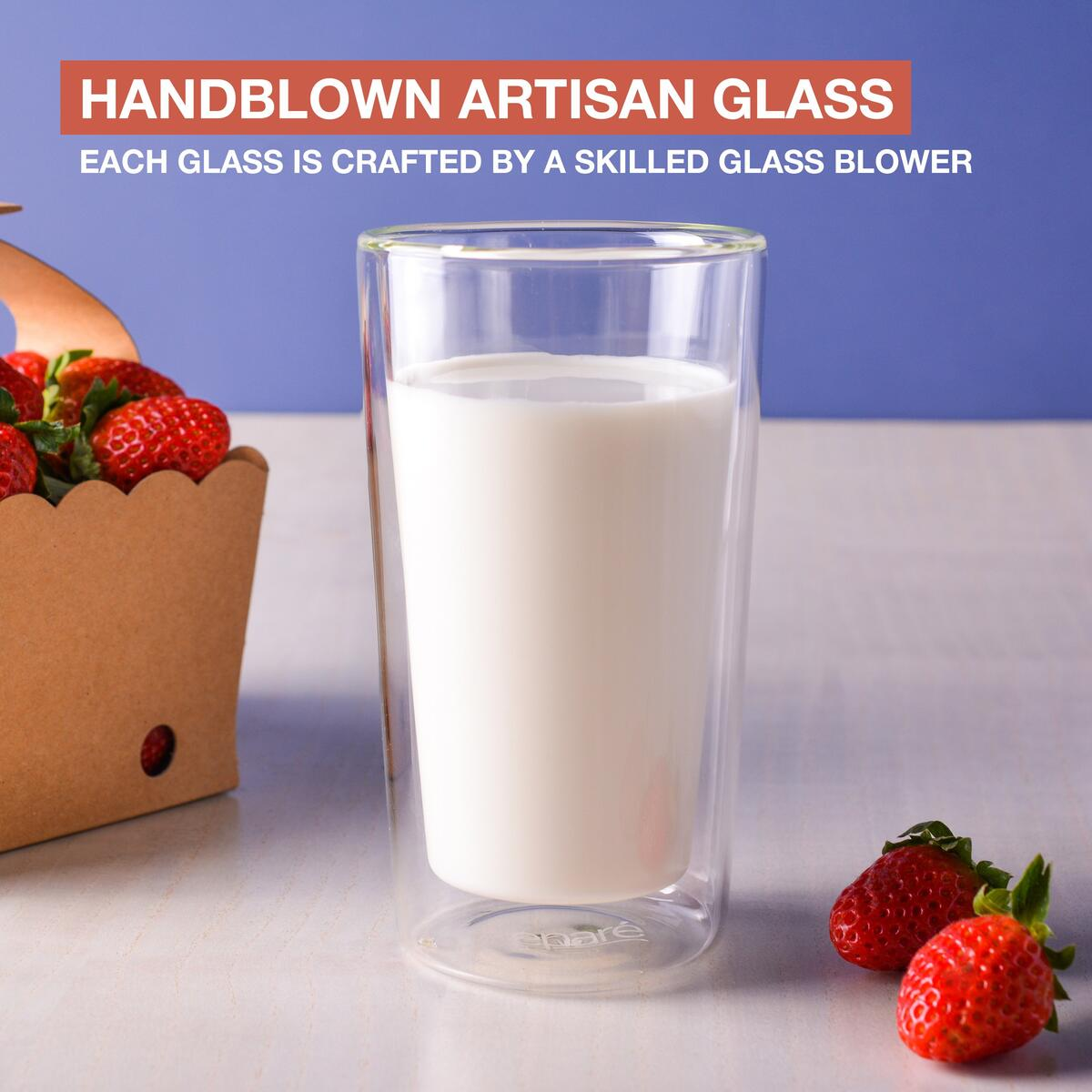 Eparé 12 oz Double Wall Highball Glass (Set of 2)