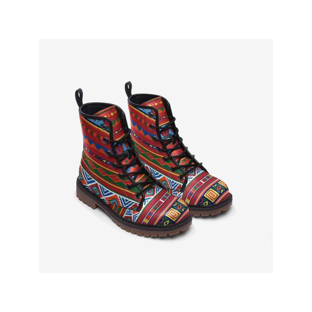 African Lotus Leather Lightweight boots MT, 8 Women / 6.5 Men / Black