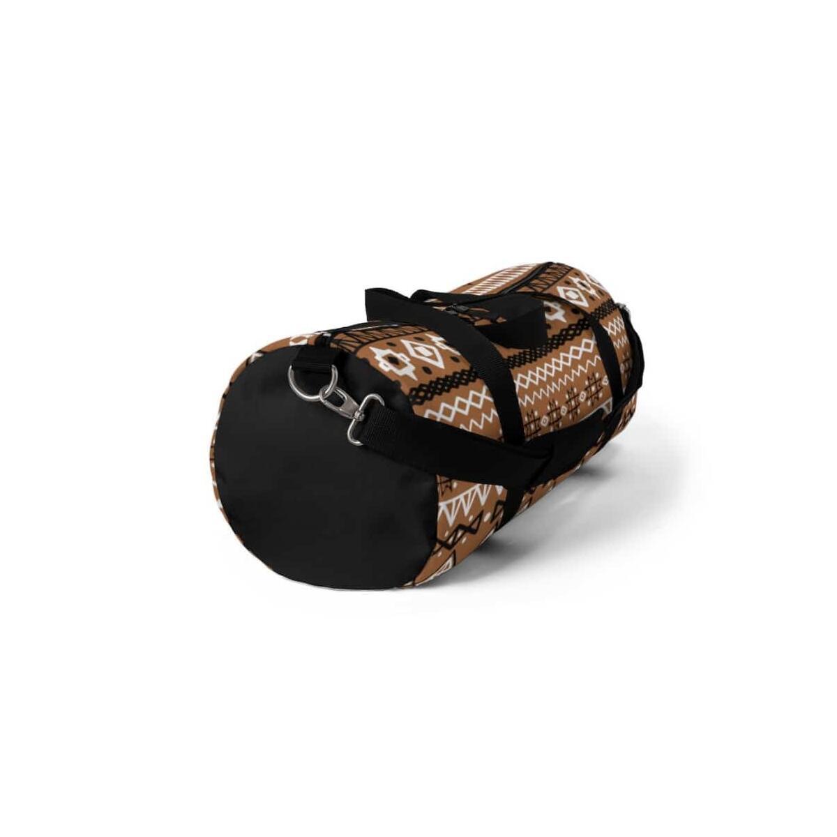 Brown African Mud cloth Duffel Bag, Large
