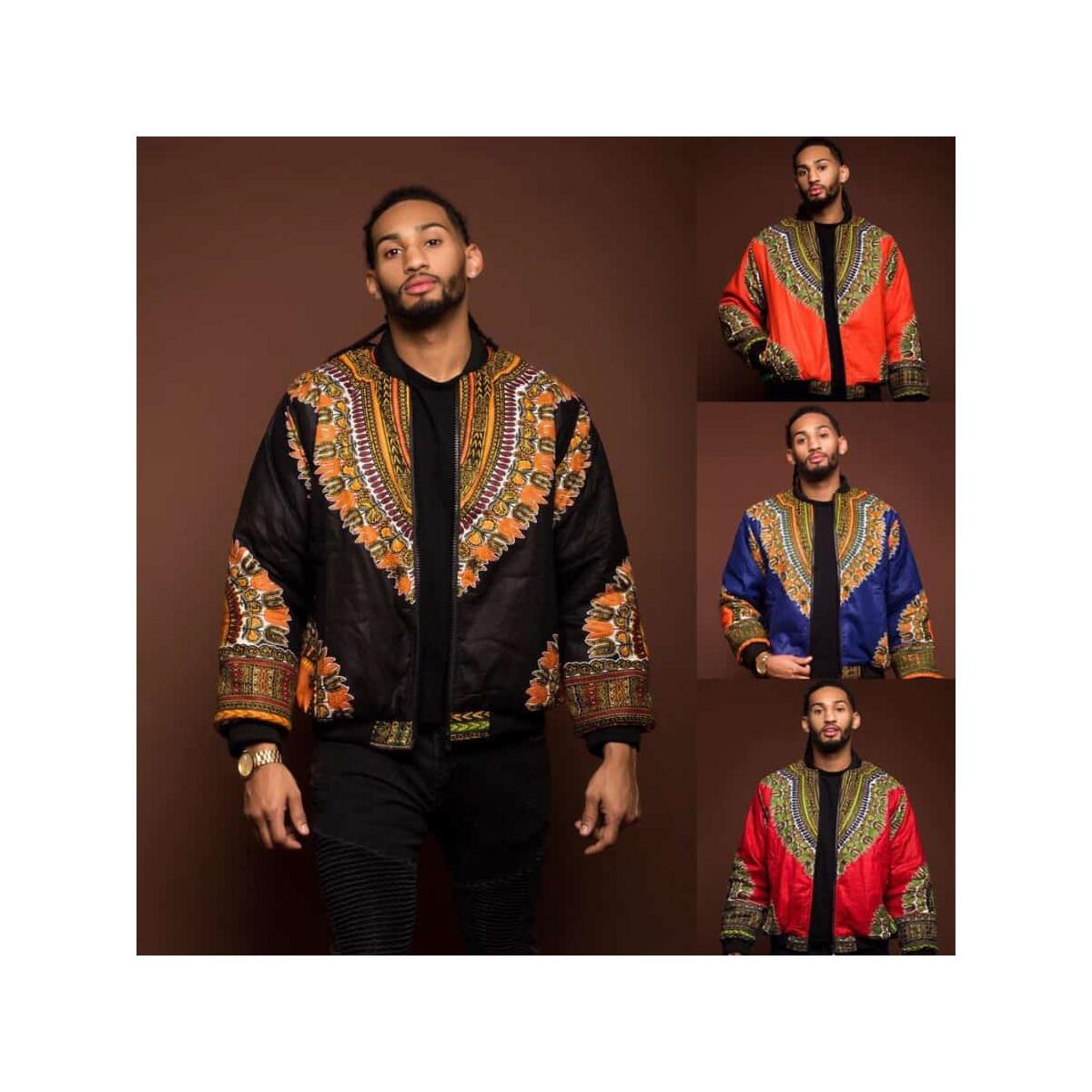 Men's Ethnic African Print Jacket Coat