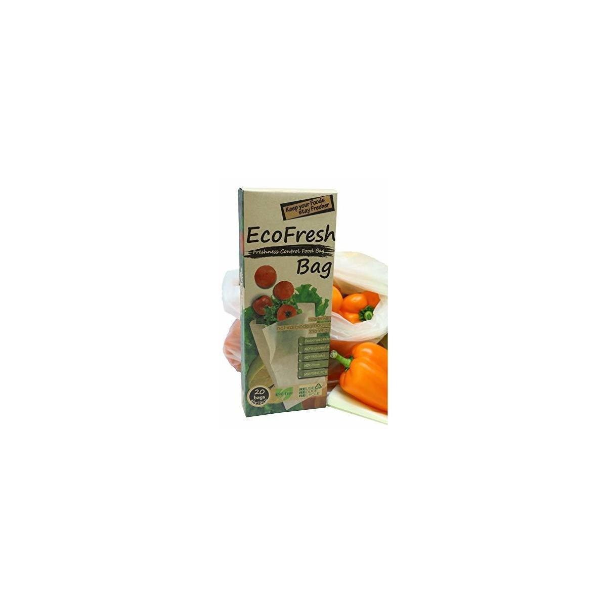 Reusable Produce Saver Bags - BPA Free Food Saver Green Bags, Keep Fruits and Vegetables Fresh Longer - 20pc XL Produce Bags