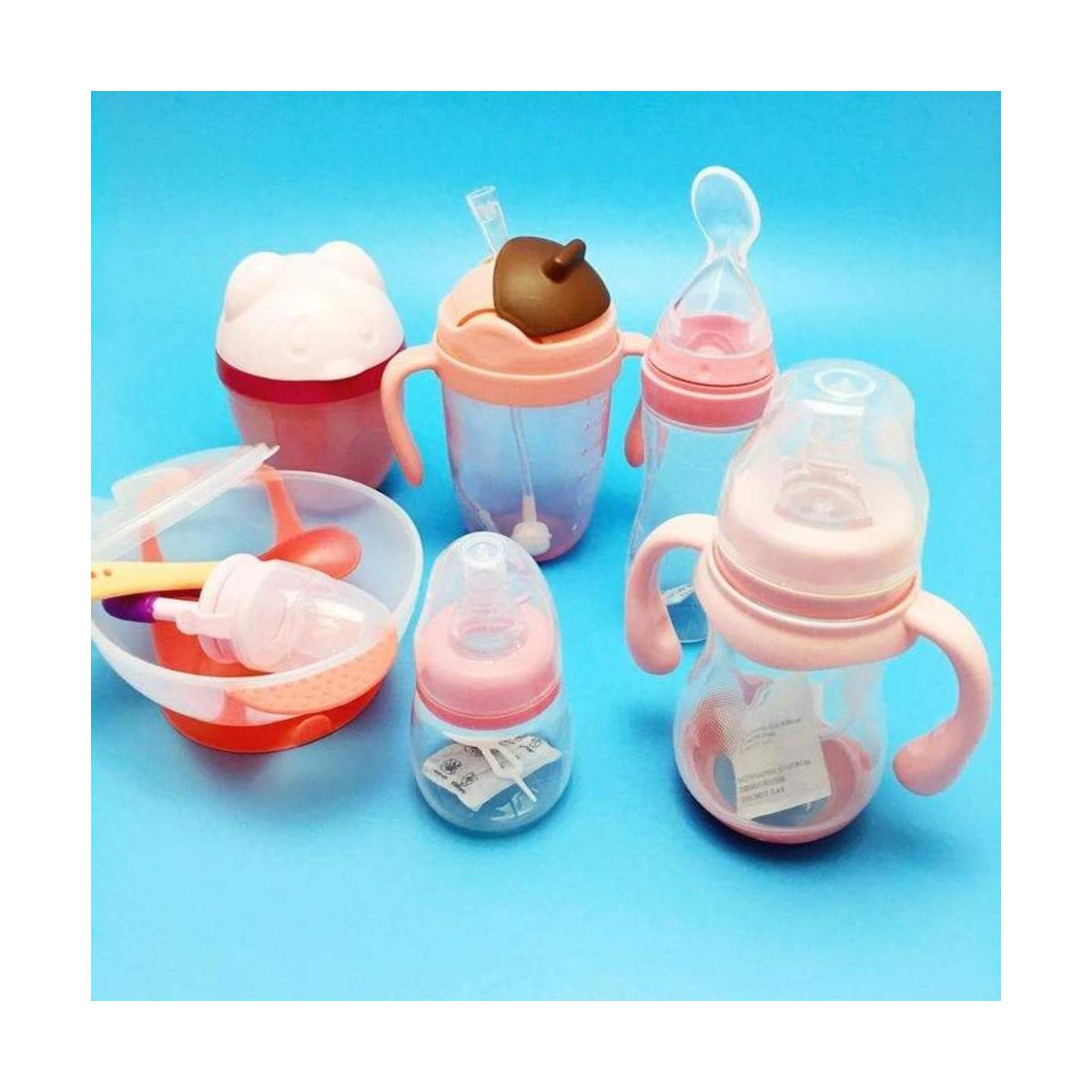 Baby Wide Neck Feeding Nursing Bottle Set