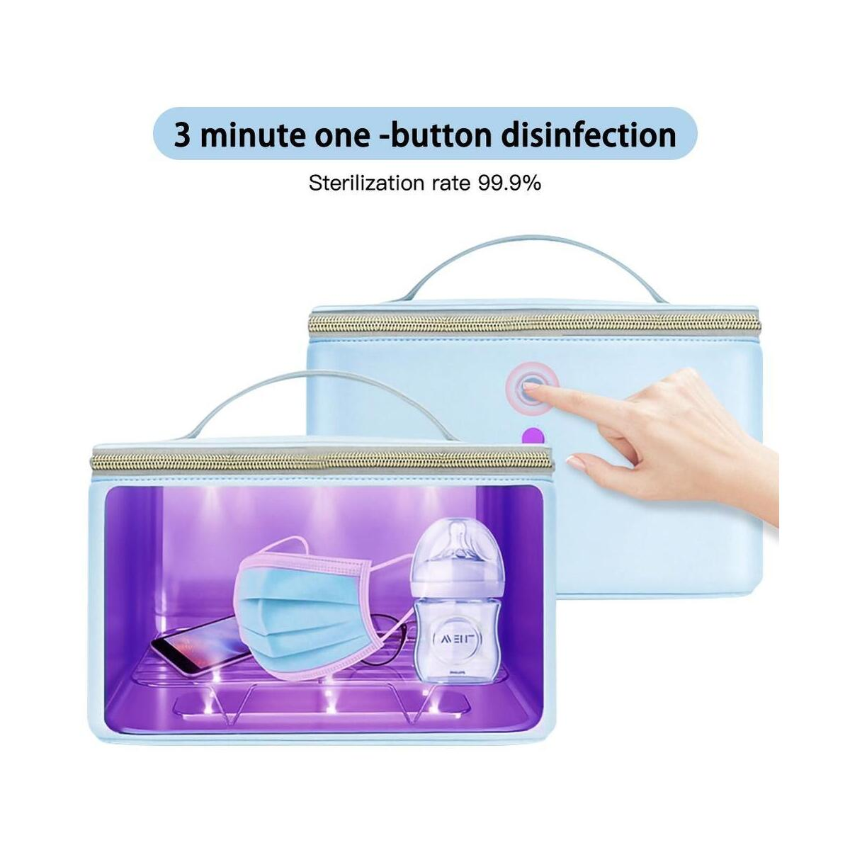 UV Sterilizer Bag UV Disinfection Bags Portable Nursery Sterilizer Box UV Cleaner Waterproof UV Travel Sterilization Bag