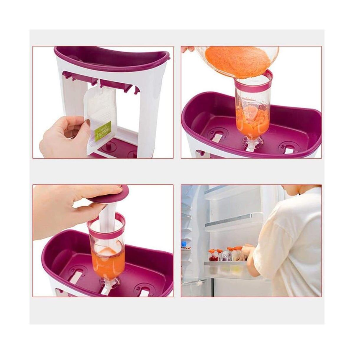 Easy to Use Squeeze Baby Food Maker Station Feeding Kit
