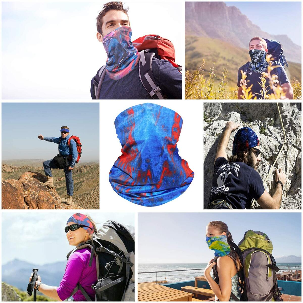 Bestier Neck Gaiter Face Scraf Mask - Cooling Fack Mask Breathable Bandana Dust Proof Sun Protection Cover Balaclava