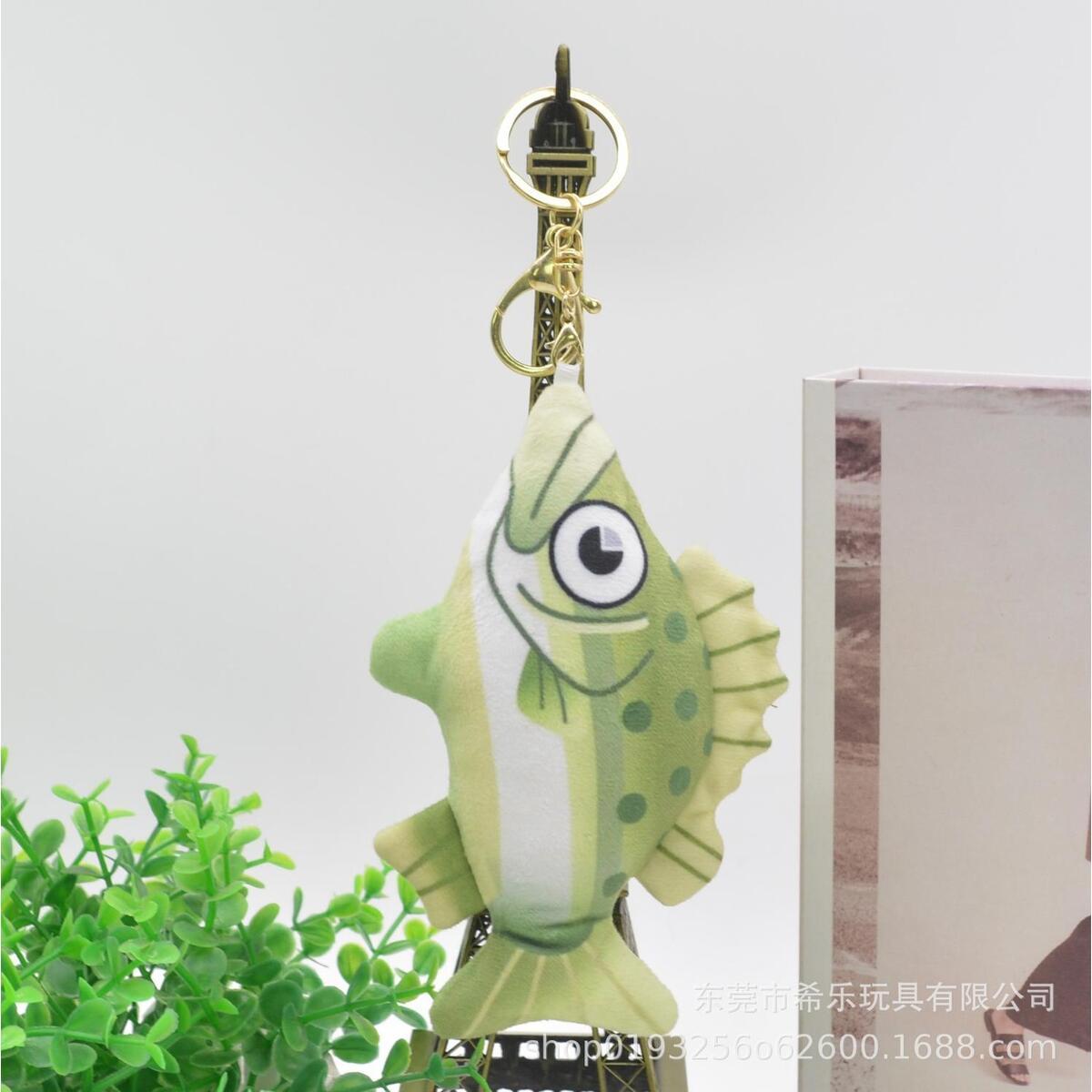 Animal Crossing Icon Plush Keychains, Sea Bass