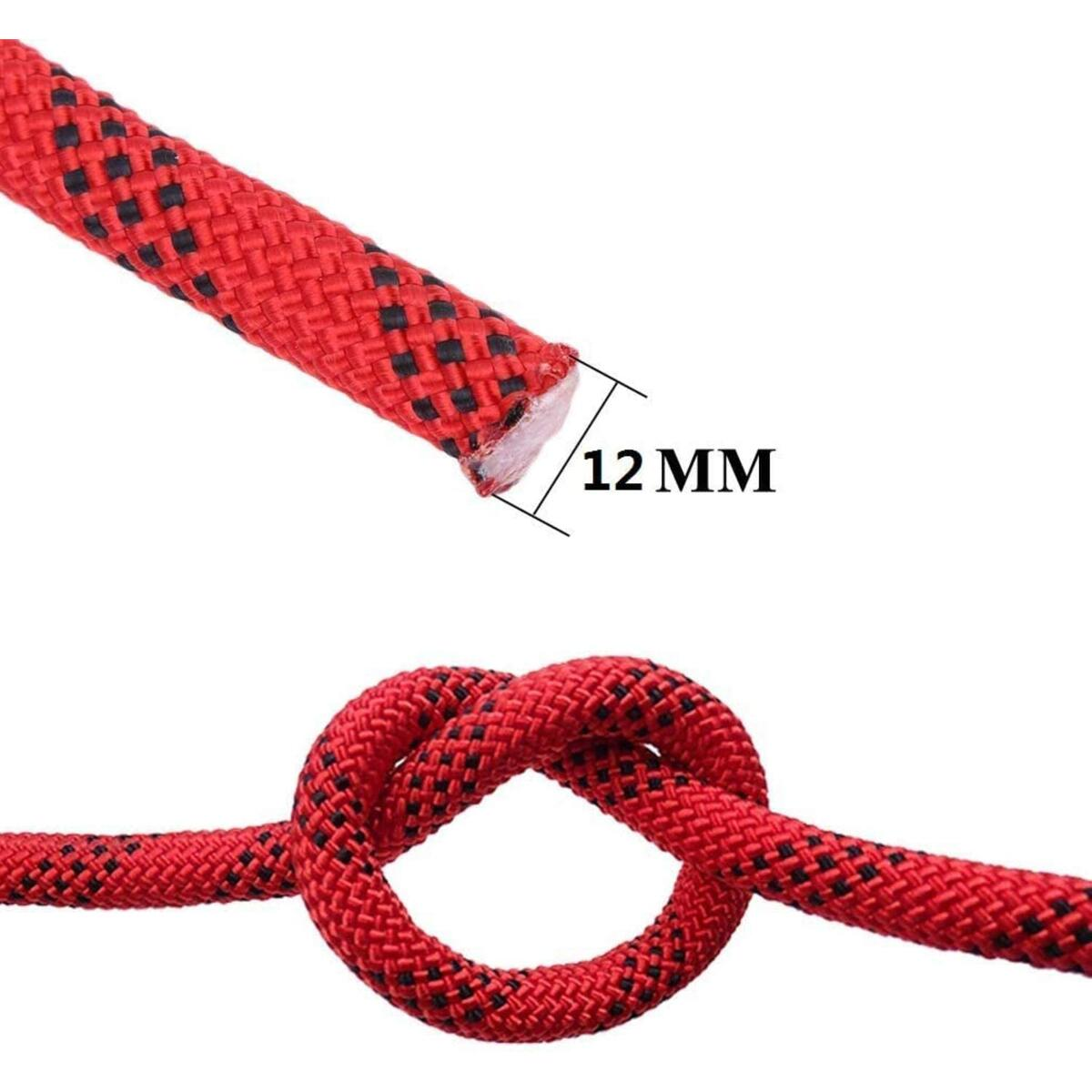 JUNCHONG Outdoor Climbing Rope,12mm Static Rope,10M(32ft) Static Climbing Rope,Rescue Rope Rappelling Rope Rock Climbing Ropetree Climbing Rope with Safety Working Gloves.
