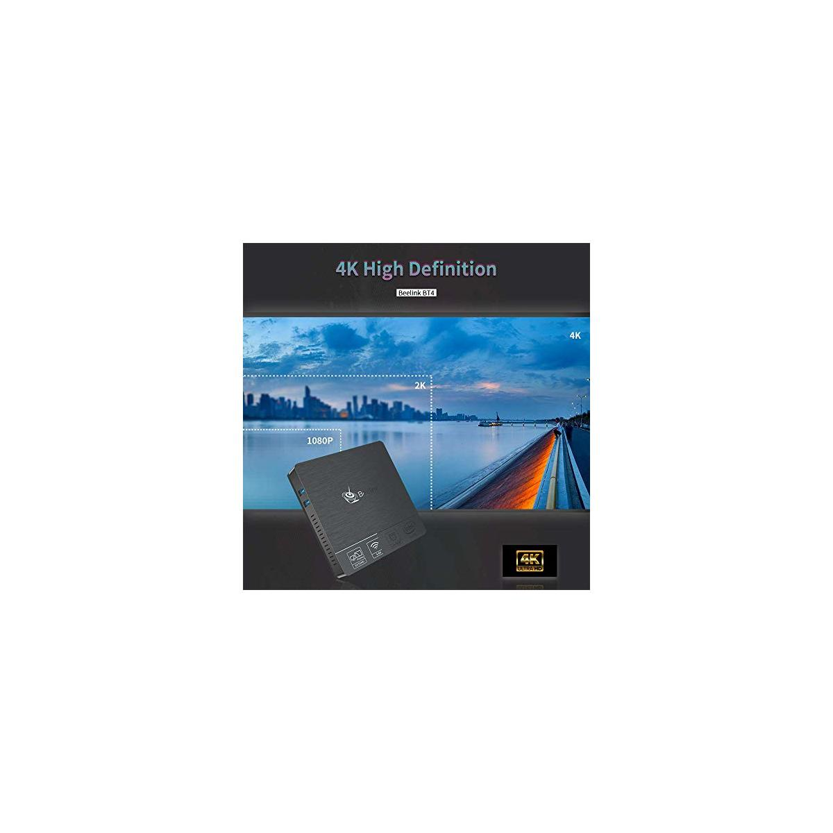 Beelink BT4 Mini PC Intel Atom Z8500 Windows 10 Mini Computer, 4GB DDR3L 64GB eMMC,Support 4K HD 30Hz,2.4/5G WiFi AC,Gigabit Ethernet, BT 4.0 (Beelink BT4 4GB/64GB)