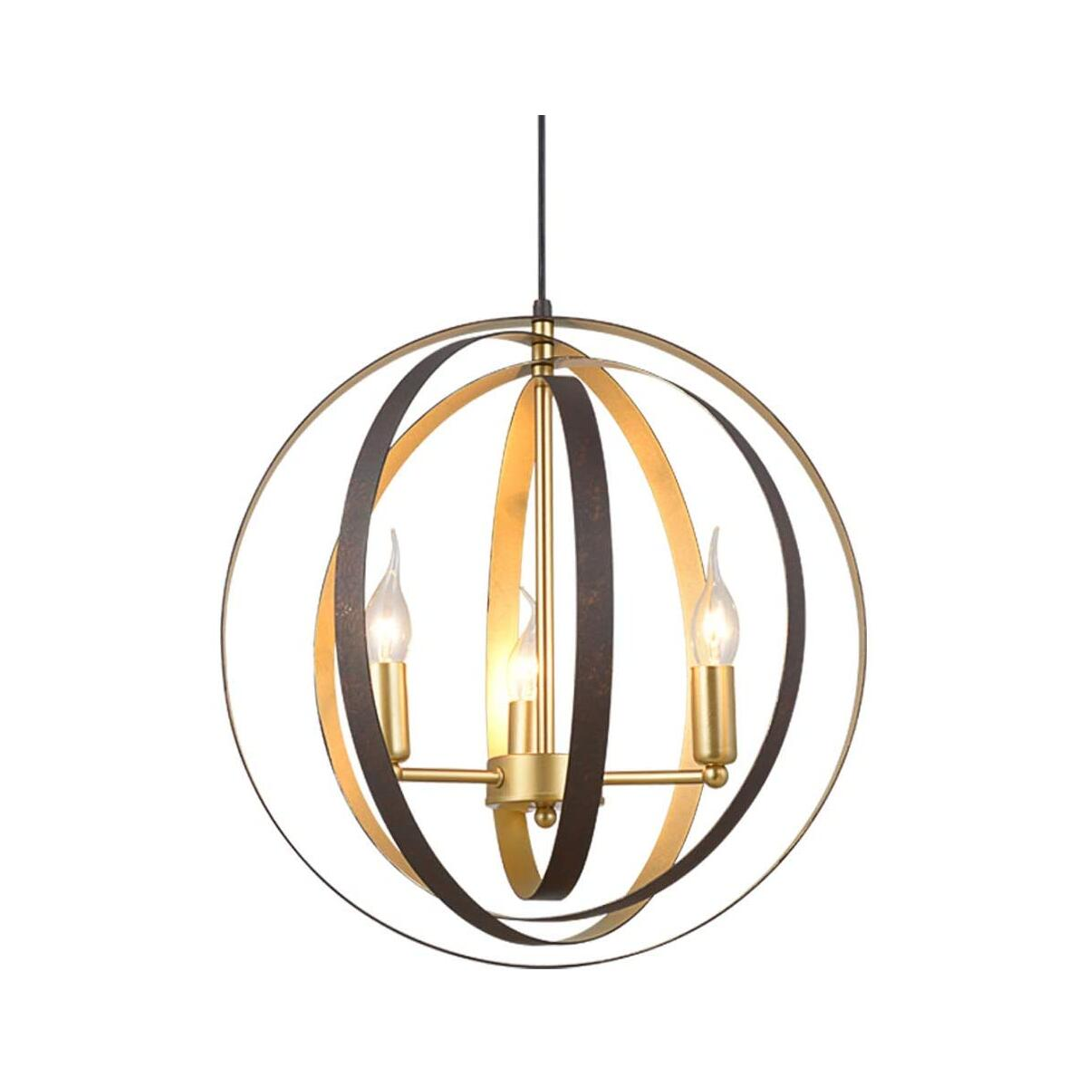 Vintage Spherical Farmhouse Chandelier for Dining Room, 19.68