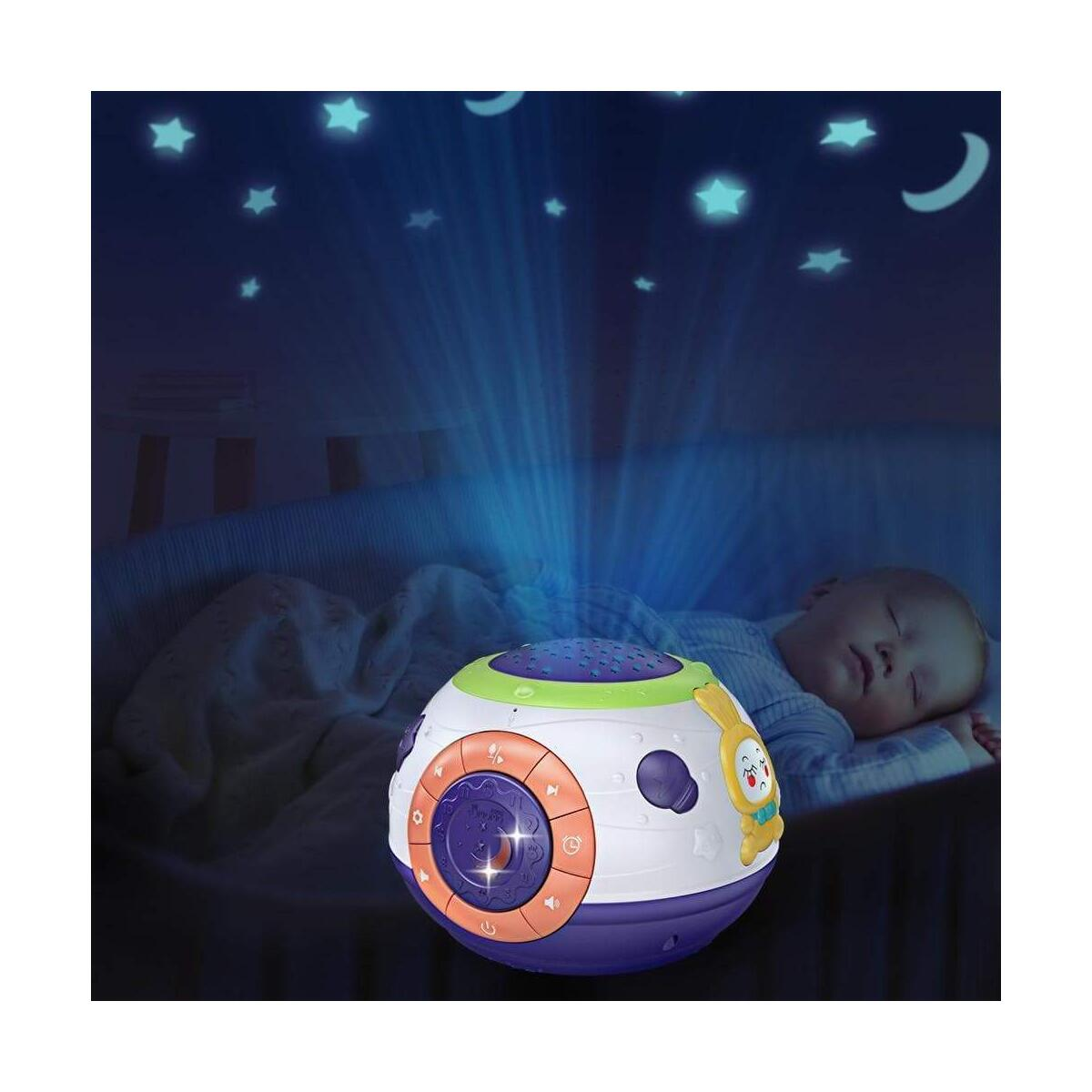Baby Nursery Night Led Light Stars Projector Colorful Luminous Music Sphere Lamp