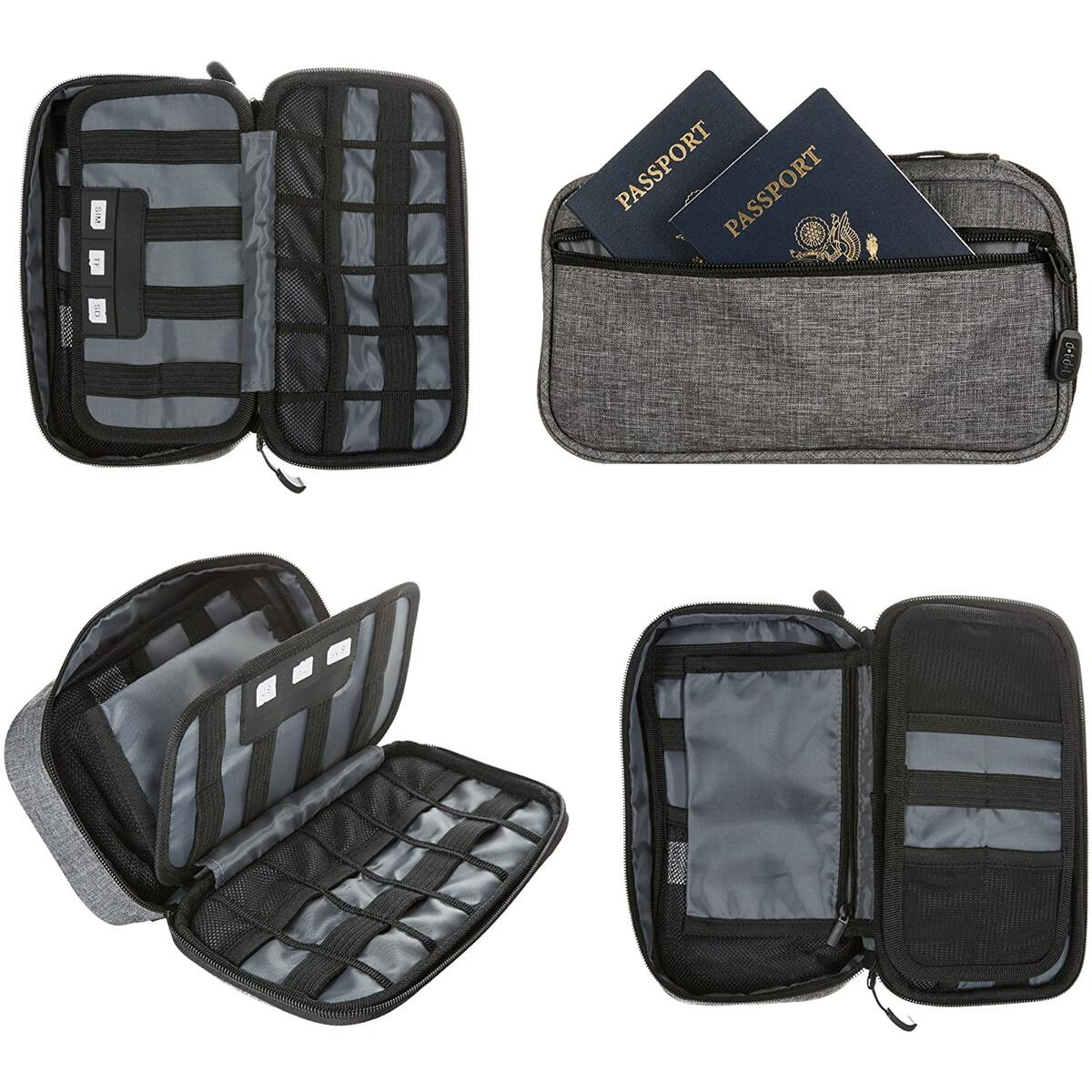 Slim Electronics Organizer Travel Tech Case
