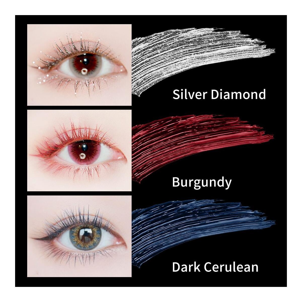 ZEESEA New 9 Colors Mascara, Dark Cerulean