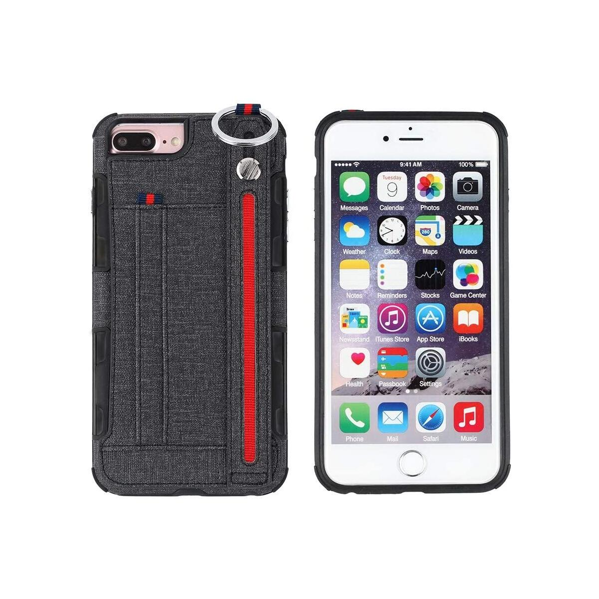 ACHORO All in One Functional Case Compatible with iPhone X and iPhone Xs - Stand, Holder, Storage, Ring - Multi Functional