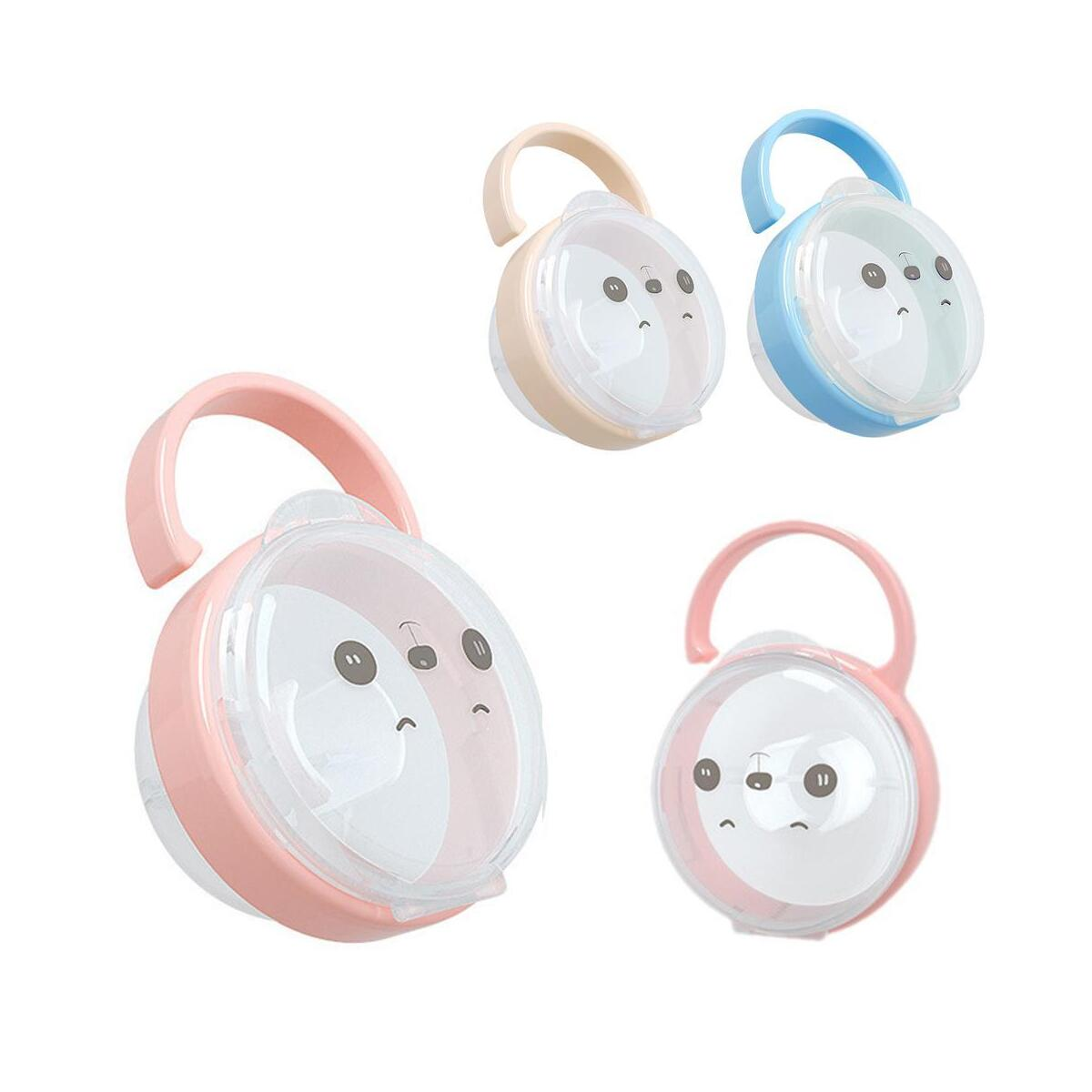 Portable Baby Infant Pacifier Nipple Cradle Case Pacifier Box Holder for Kids Travel Storage Box