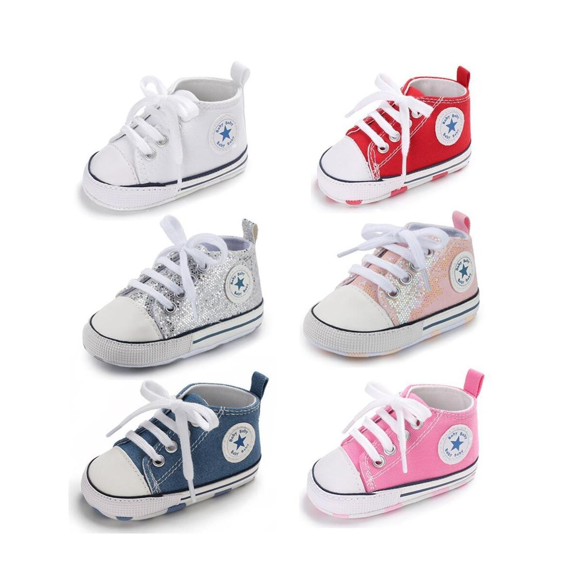 Baby Girls Boys Toddler Sneakers Soft Sole  High-Top Ankle Infant First Walkers Crib Anti-slip Shoes