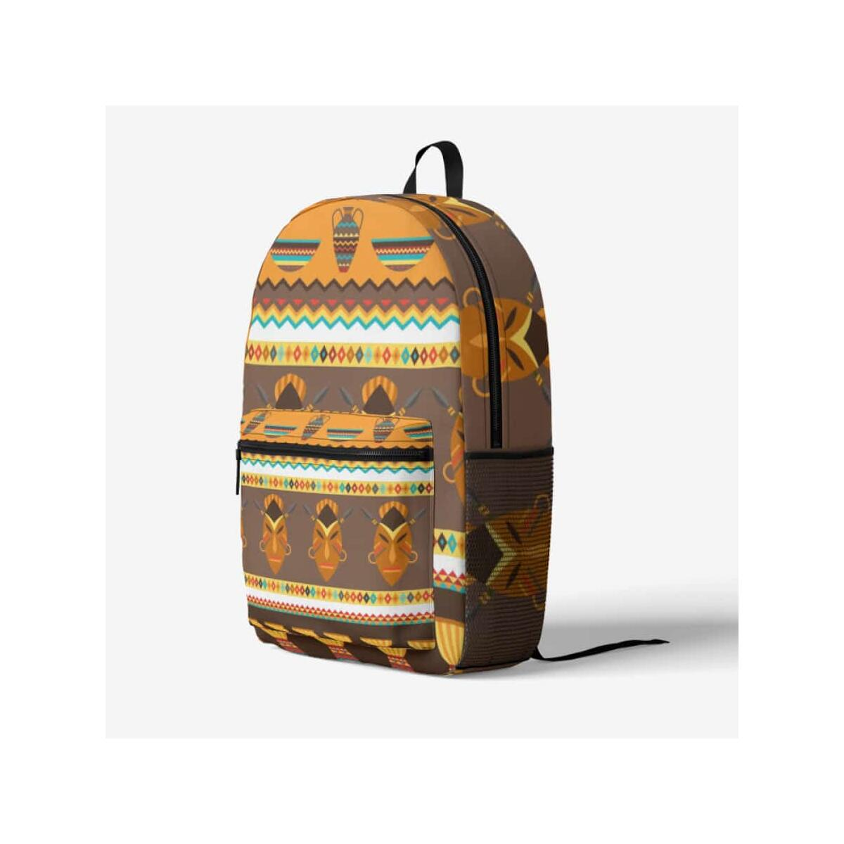 African Djembe Masks Trendy Backpack