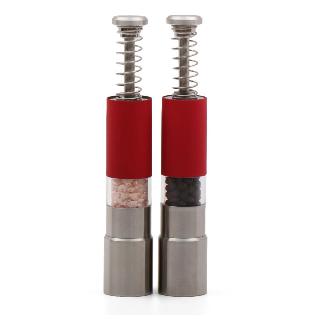 Eparé Steel Spring Manual Mills (Set of 2) (Red)