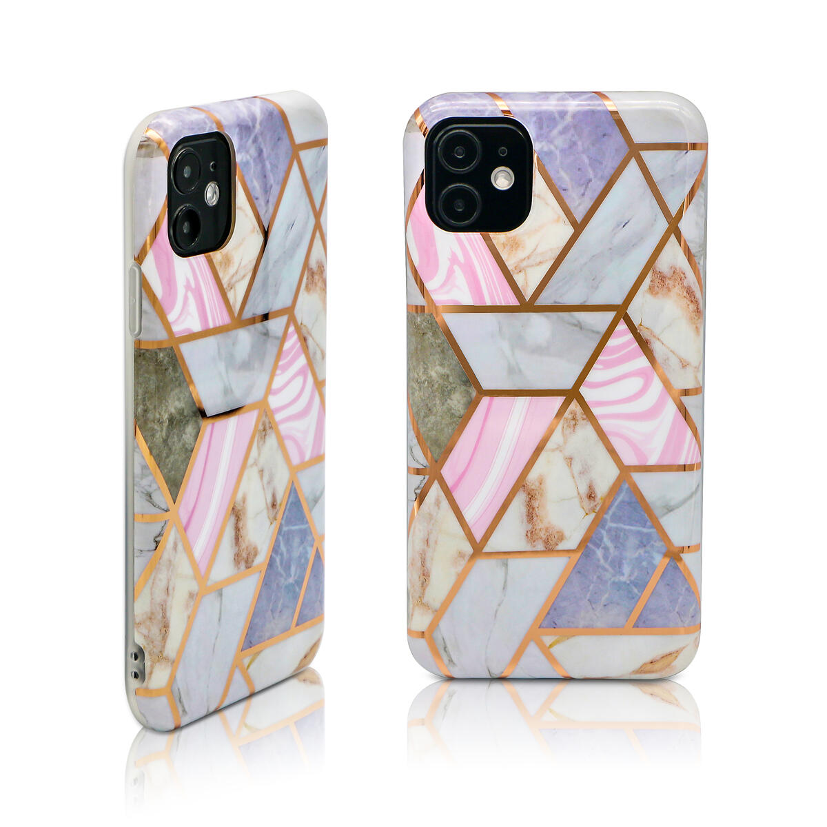 Laudtec Designer Phone Case and Stand Compatible with iPhone 11 Pro Max Flexible TPU Glossy Anti-Scratch Case (Pink)