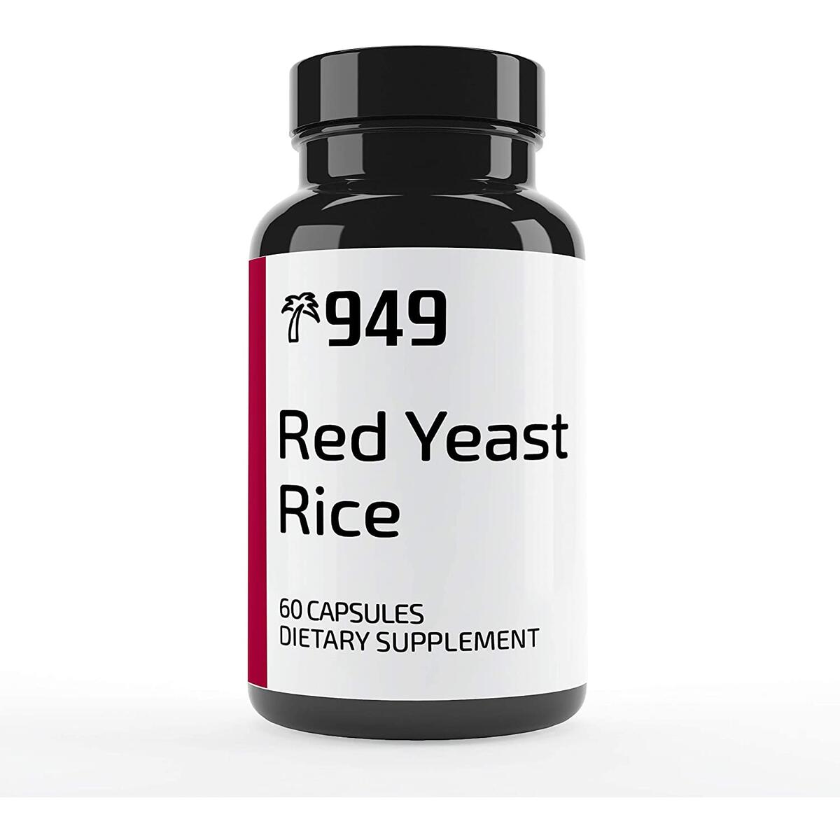 Red Yeast Rice, Under 10 Dollars, 60 Capsules, Manage Cholesterol Levels, Heart Health, No Additive or Fillers, Lab-Tested Purity, Made in USA, Satisfaction 100% Guaranteed, 949*