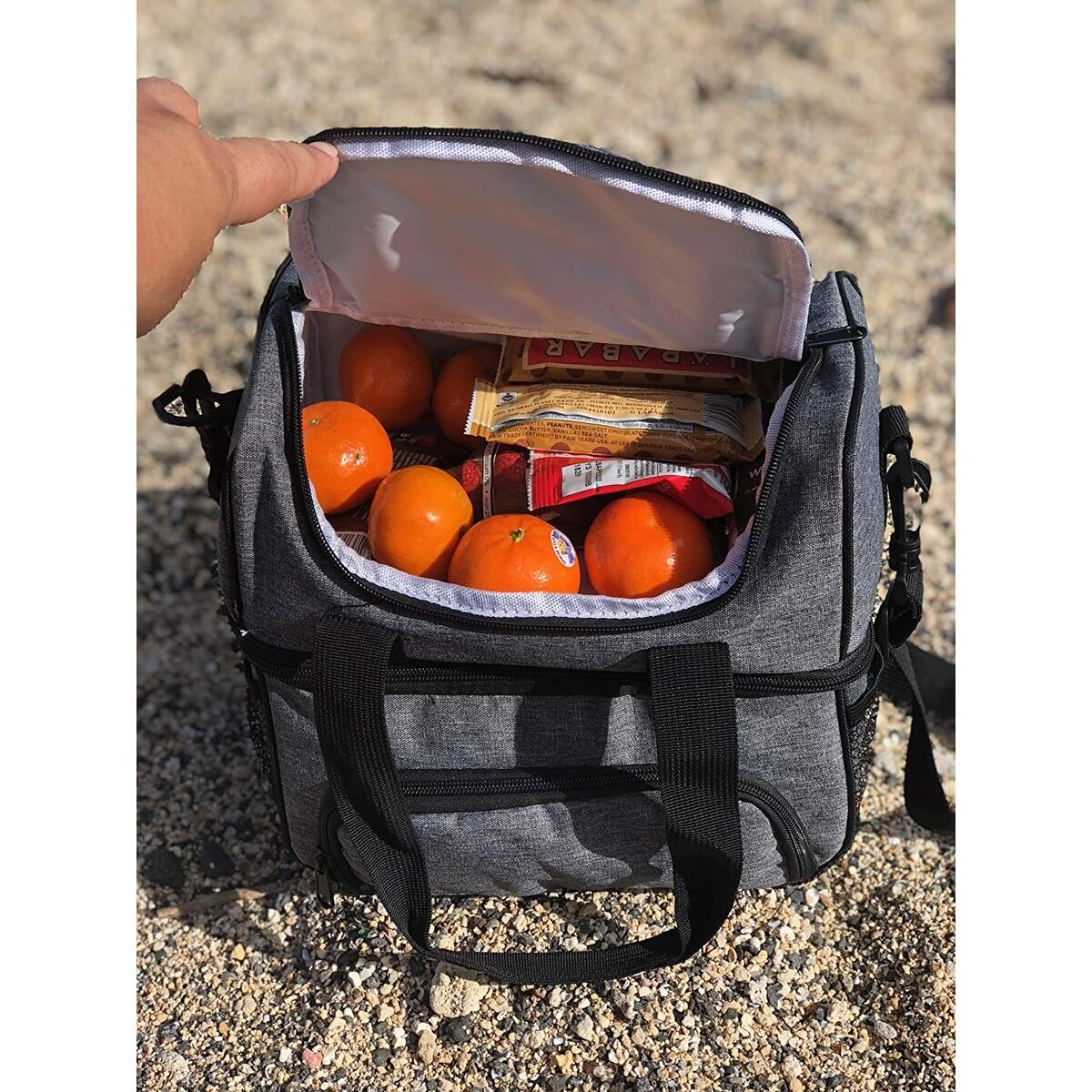 Insulated Lunch Bag Large Cooler Lunch Box for Men Woman Adults - Adjustable Shoulder Strap Water-Resistant Cooler Bag for Hot Lunches & Cold Drinks Lunch Boxes Thermal Lunch Pack by JaceBox