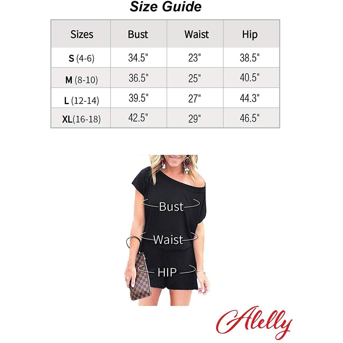 Alelly Women's Off Shoulder Elastic Waist Beam Foot Jumpsuit Rompers