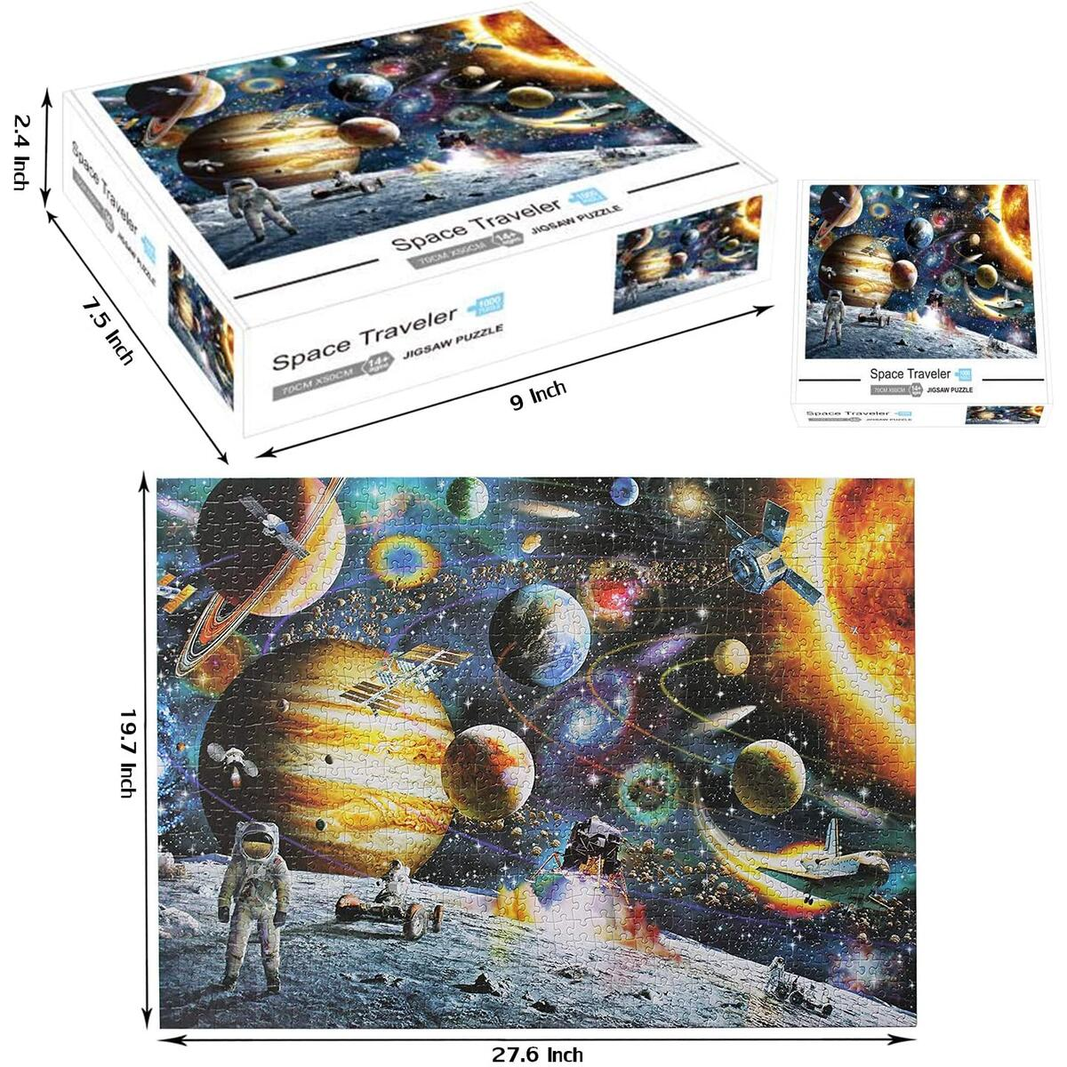 Space Puzzles for Kids and Adults 1000 Pieces Large Planets Jigsaw Puzzle