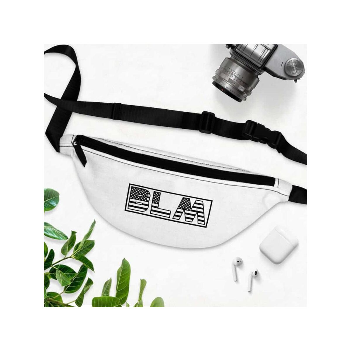 Afrocentric BLM Flag Letters Fanny Pack