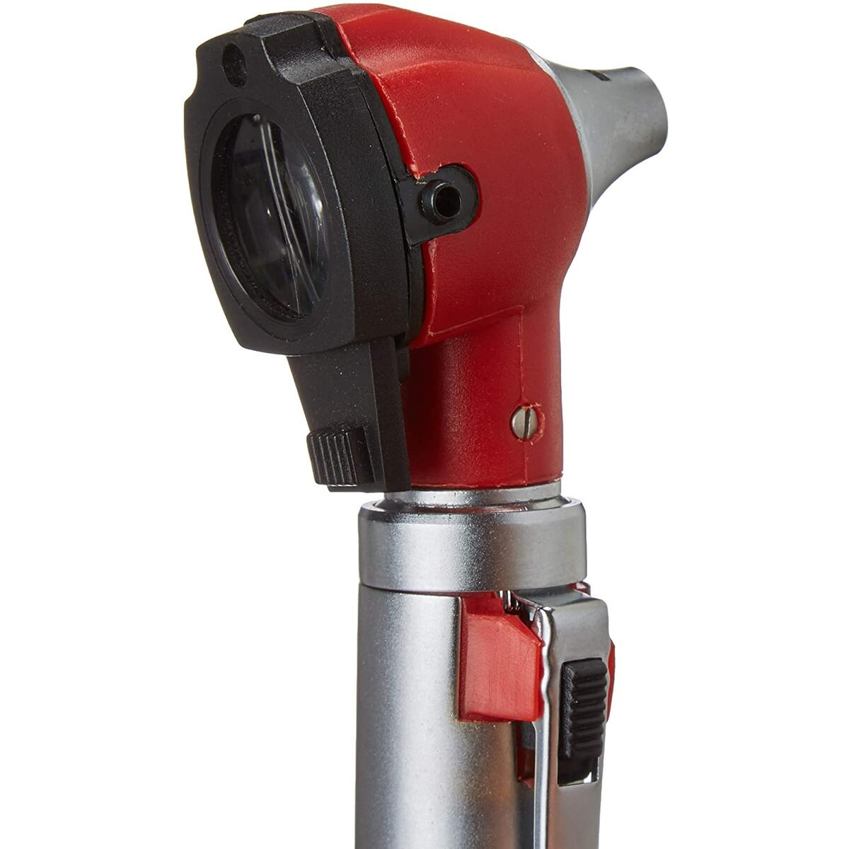 ZetaLife Otoscope - Ear Scope with Light, Ear Infection Detector, (RED) (COVID Protection)