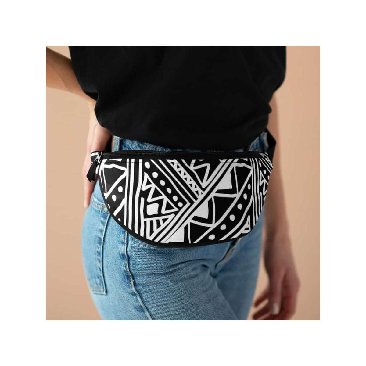 White African Mud cloth Fanny Pack, One Size