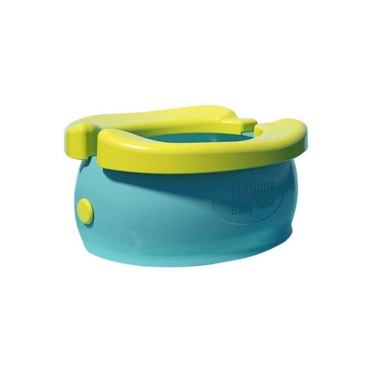 Portable Baby Potty Toilet Training Seat Folding Travel Potty Rings Banana Pattern Training Toilet