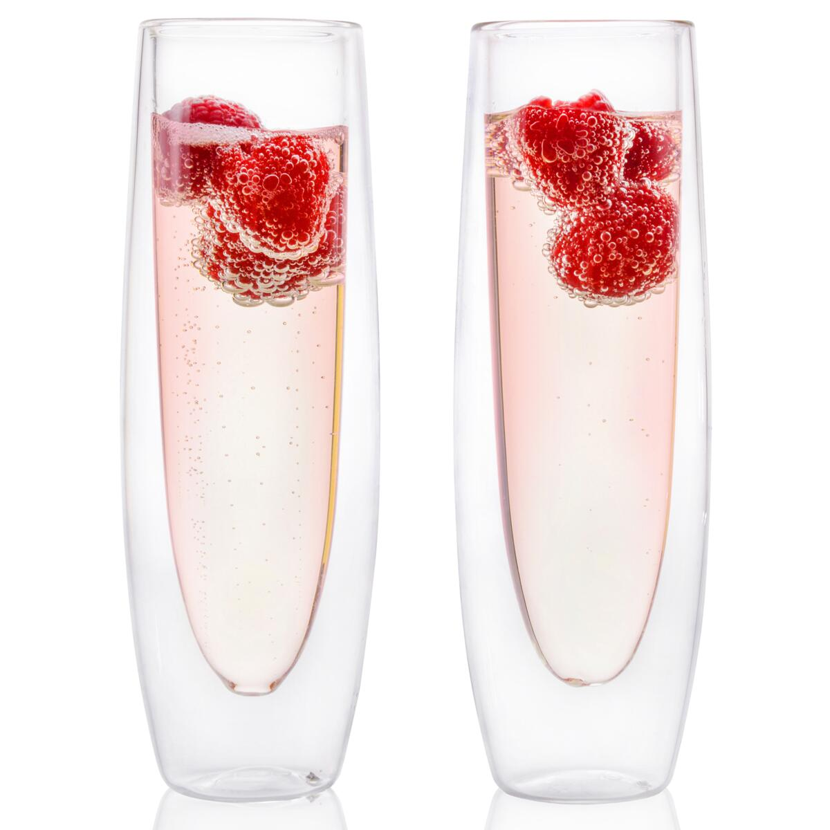 Eparé Double Wall Champagne Glass (Set of 2), Set of 4